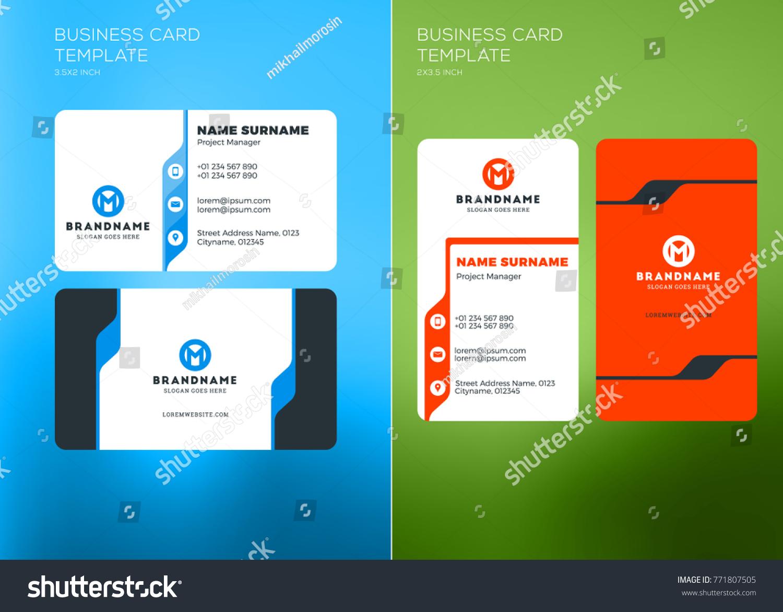 horizontal business cards