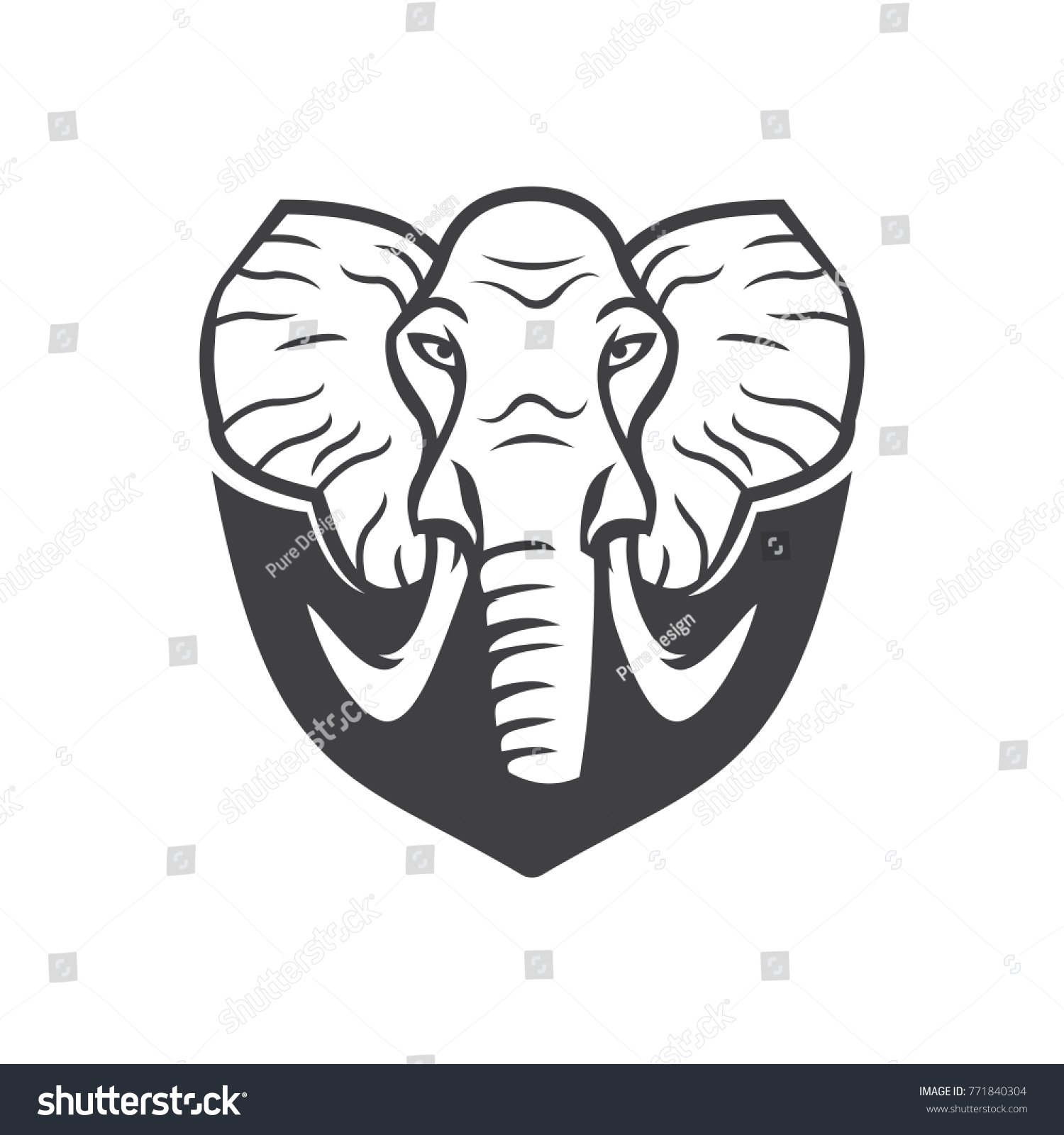 Elephant Logo Vector Mascot Stock Vector 771840304 - Shutterstock