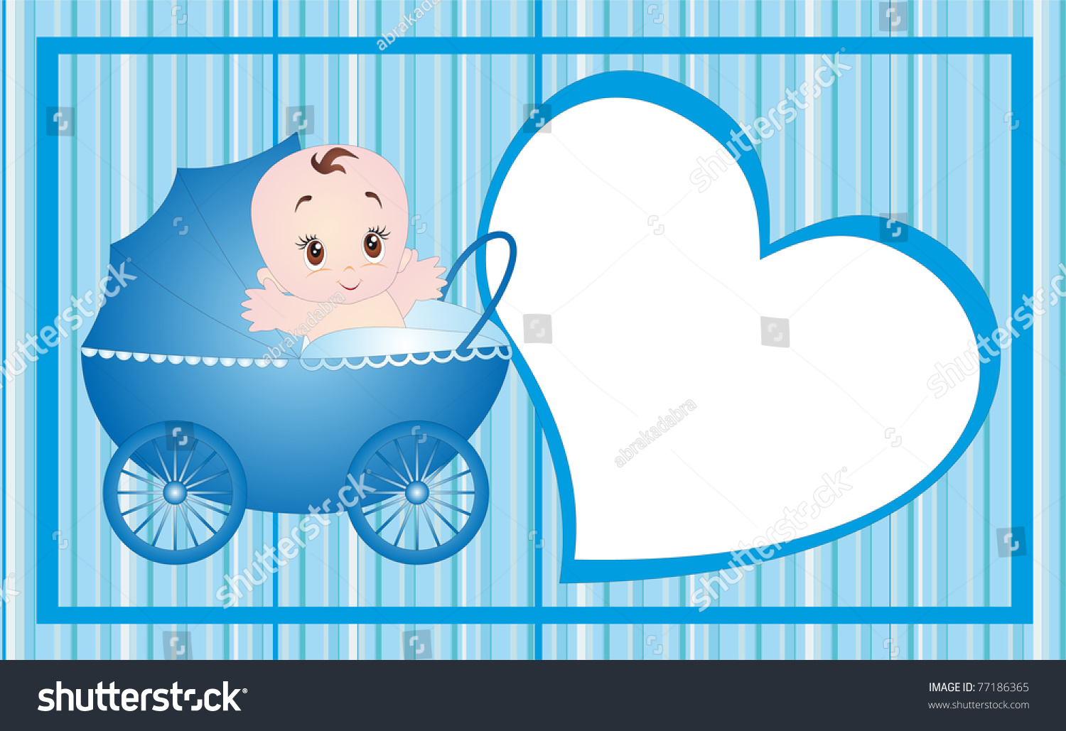 new born baby card design illustration isolated on white background - New Born Baby Card