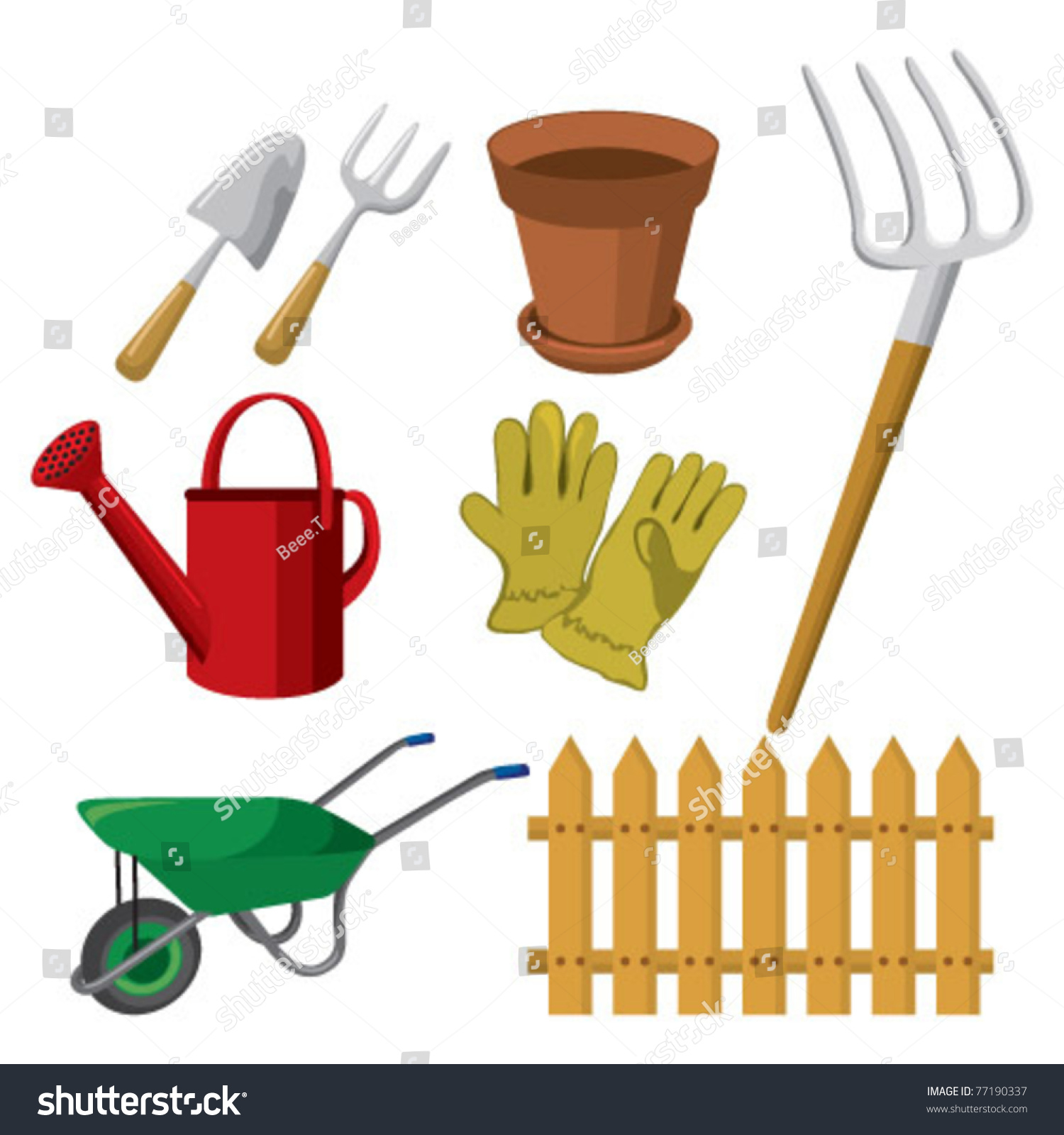 Gardening tools stock vector illustration 77190337 for Gardening tools toronto