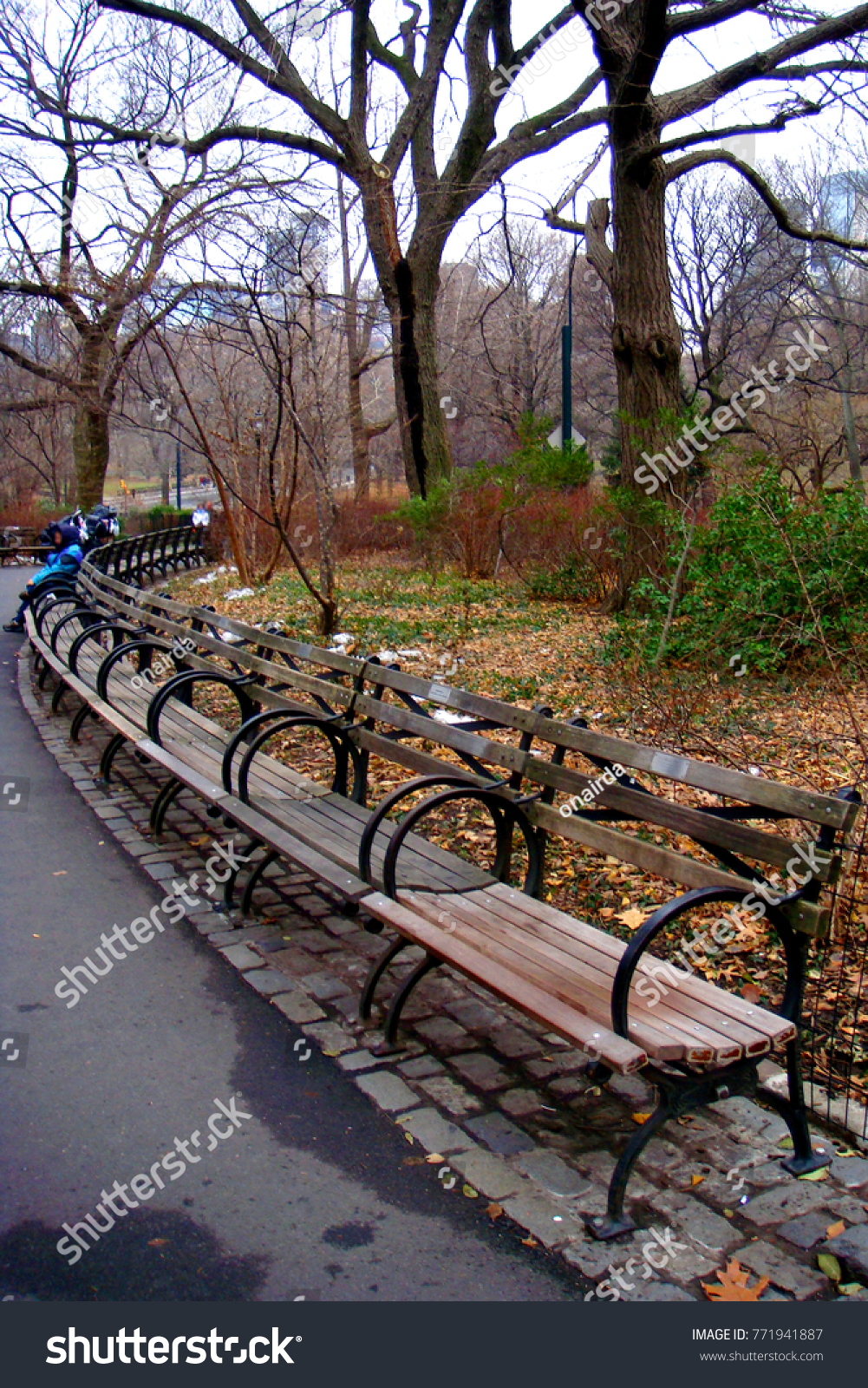 Classic Bench Central Park New York Stock Photo Edit Now 771941887