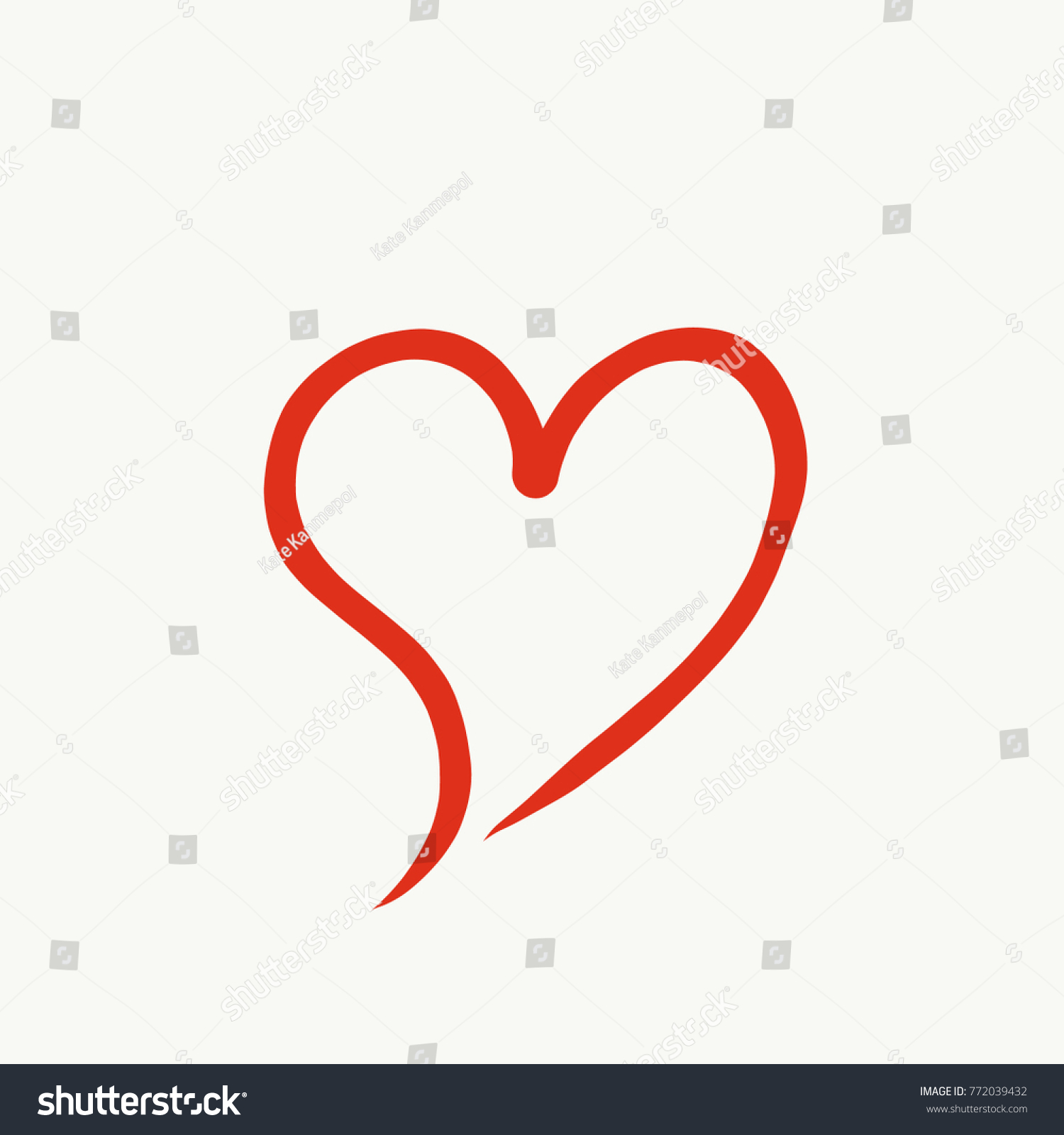 Red Heart Sign Symbol Drawing Valentine Day Love Couples Wedding