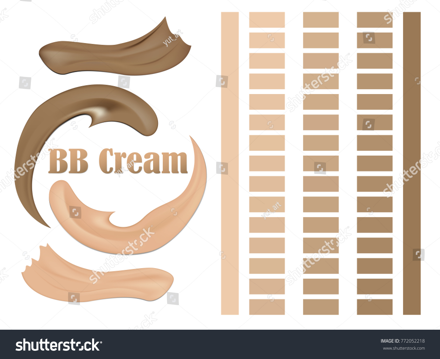 Visual Drawing Foundation Bb Cream Cosmetic Stock Vector Royalty Free 772052218