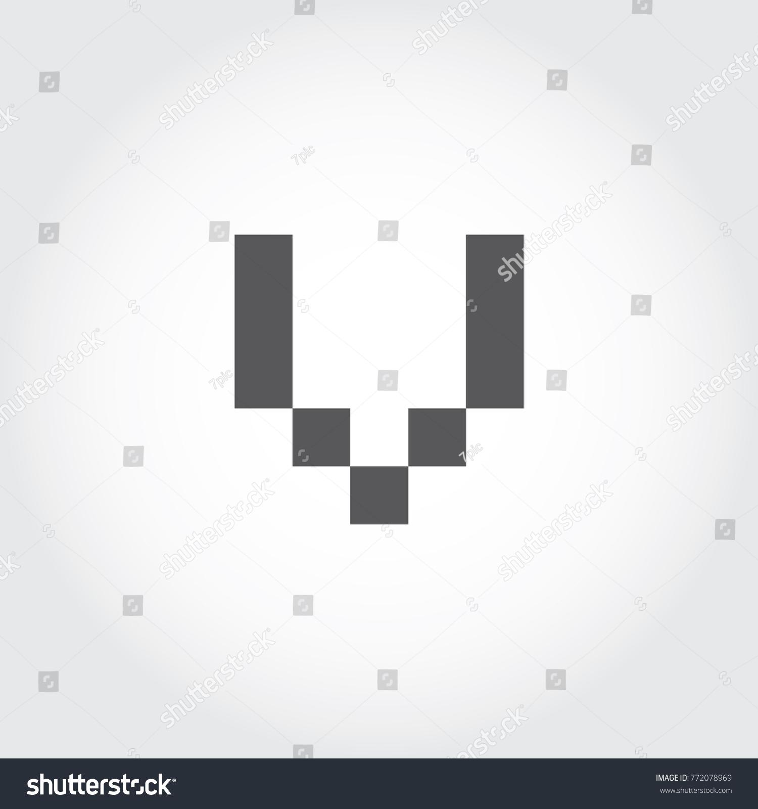Pixel Font Digital Font Logo Icon Stock Vector Royalty Free