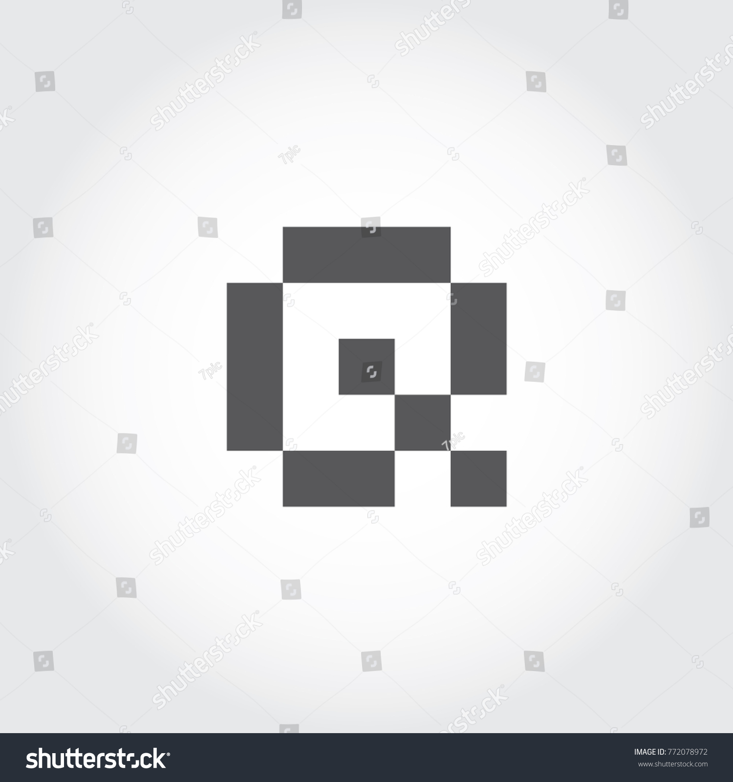 Pixel Font Digital Font Logo Icon Stock Photo Photo Vector