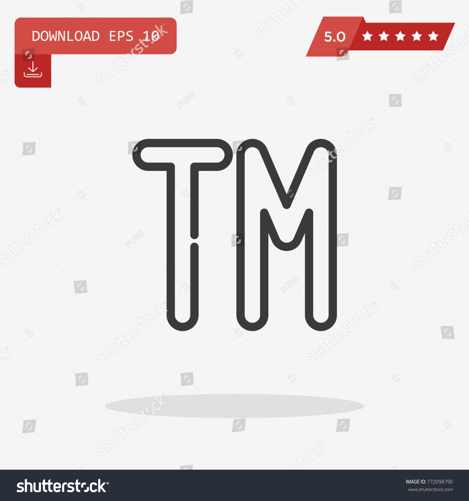 Trademark symbol isolated on grey background stock vector trademark symbol isolated on grey background stock vector 772098790 shutterstock buycottarizona