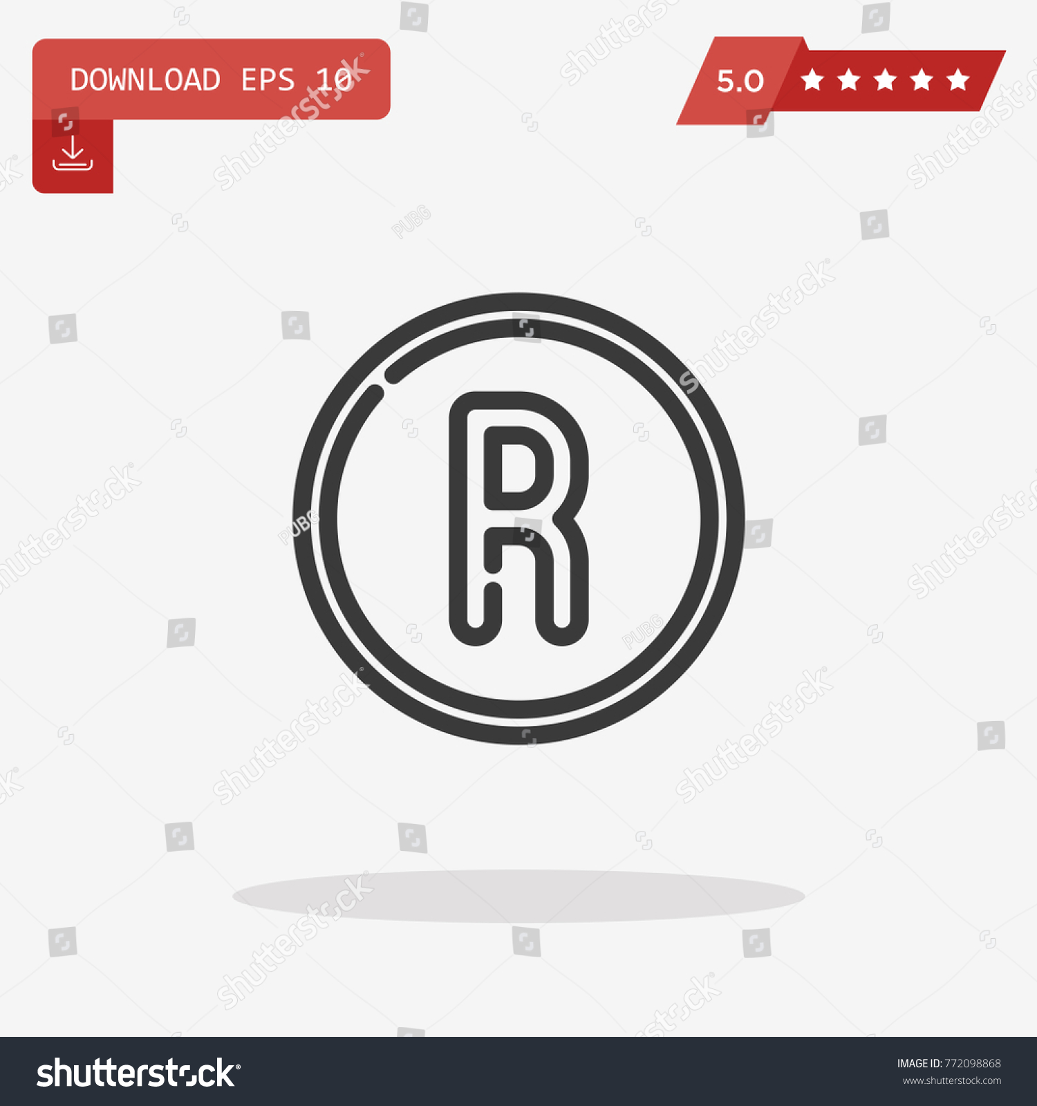 Registered brand symbol images symbols and meanings registered trademark symbol isolated on grey stock vector registered trademark symbol isolated on grey background vector biocorpaavc Choice Image