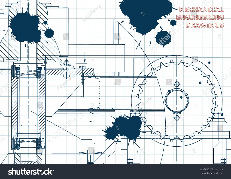 Engineering illustrations blueprints mechanical drawings technical engineering illustrations blueprints mechanical drawings technical design banner draft ink malvernweather Choice Image