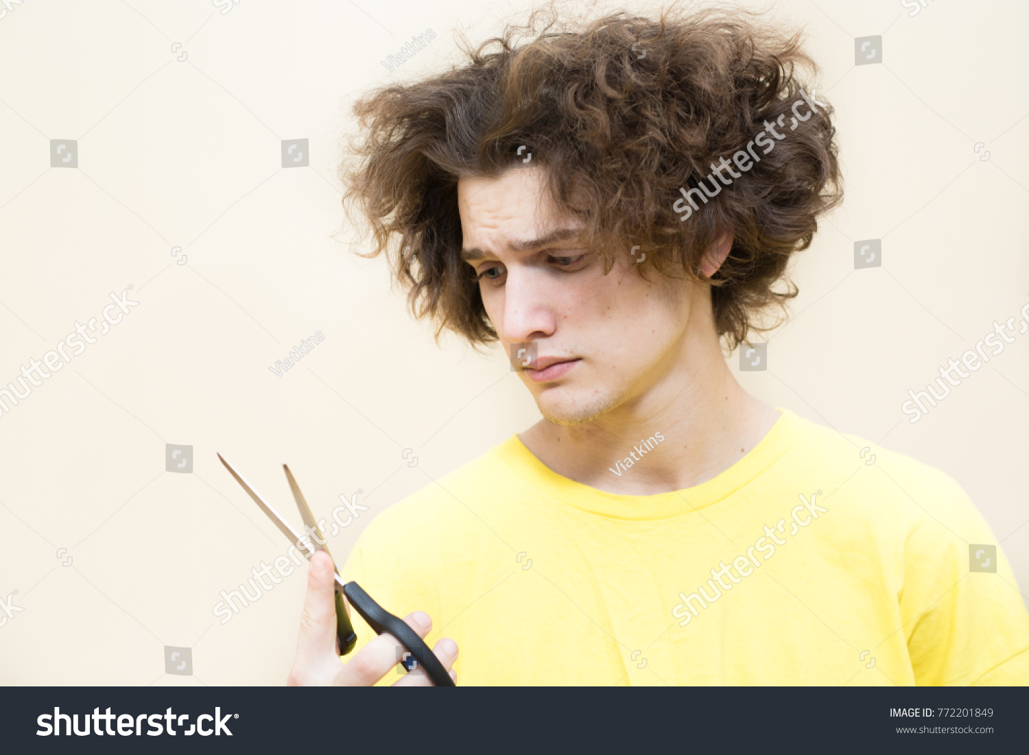 Funny Young Man Needs Haircut Dont Stock Photo Edit Now 772201849