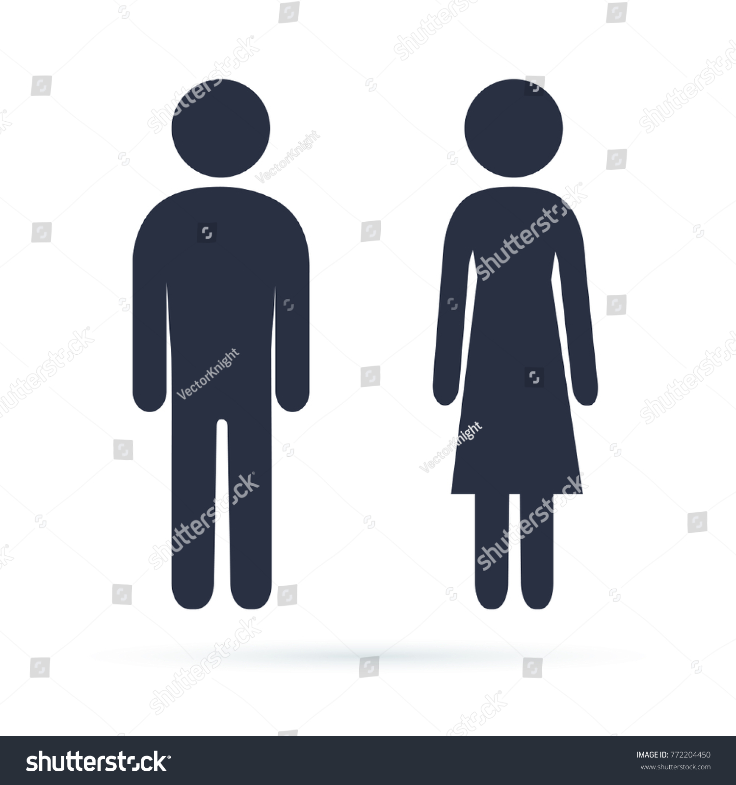 bathroom sign male female clipart single