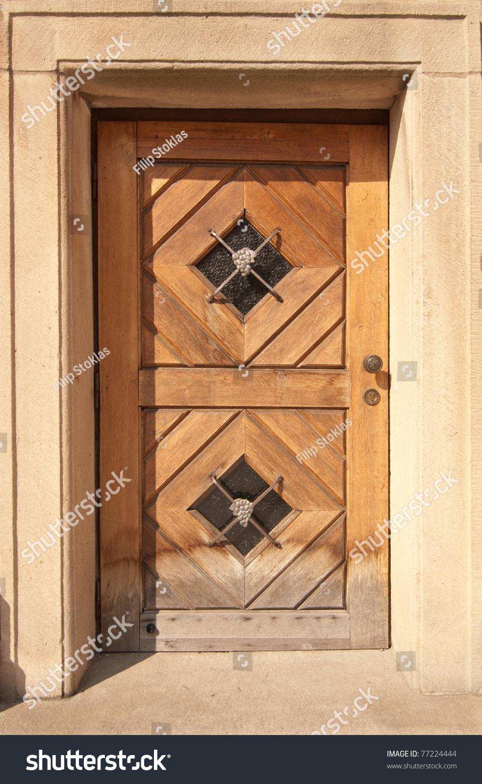 Wooden door prague czech republic stock photo 77224444 for Door z prague