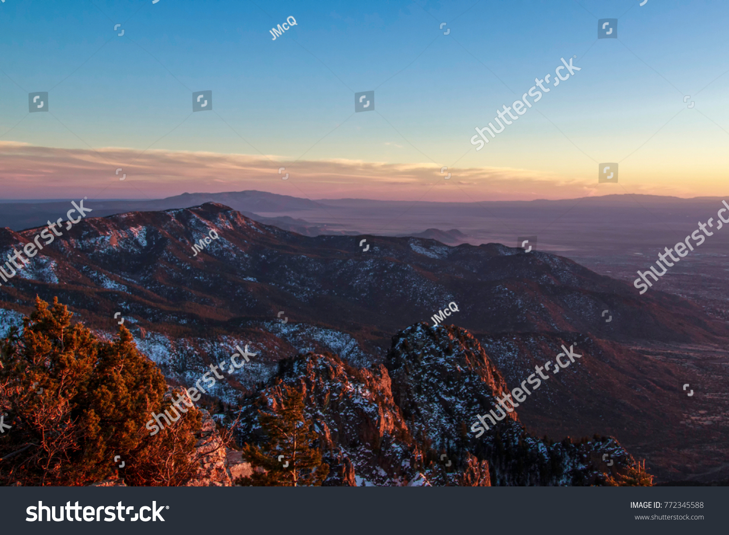 Sunset on sandia mountains albuquerque new stock photo 772345588 sunset on the sandia mountains at albuquerque new mexico sciox Choice Image