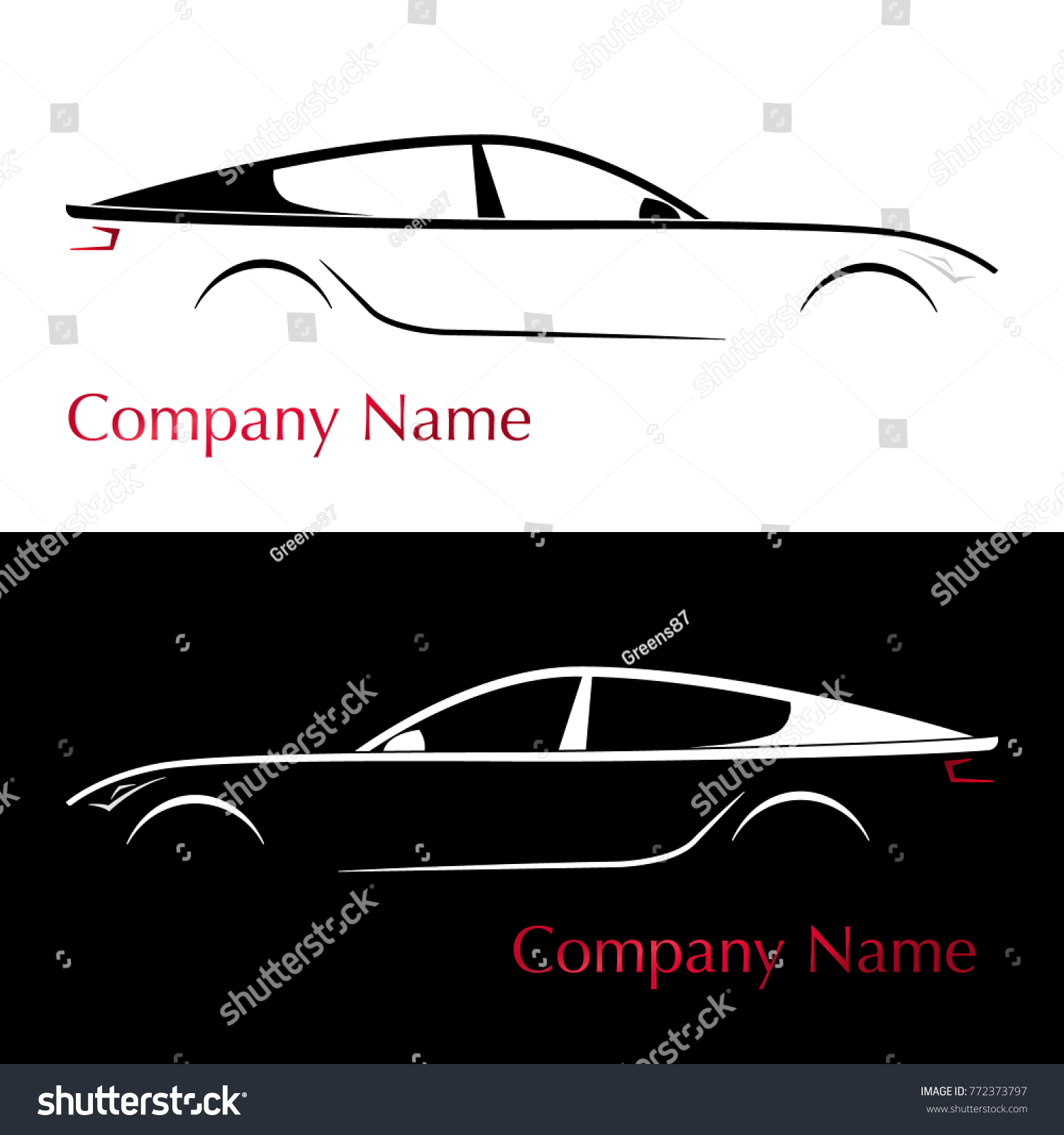 Business Card Auto Company Silhouette Car Stock Vector Royalty Free