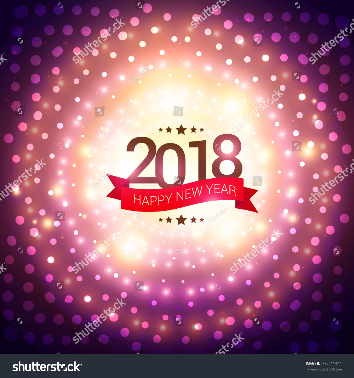 happy new year 2018 party invitation background