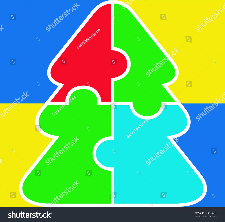 Colorful puzzle symbol autism vector illustration stock vector colorful puzzle symbol of autism vector illustration biocorpaavc