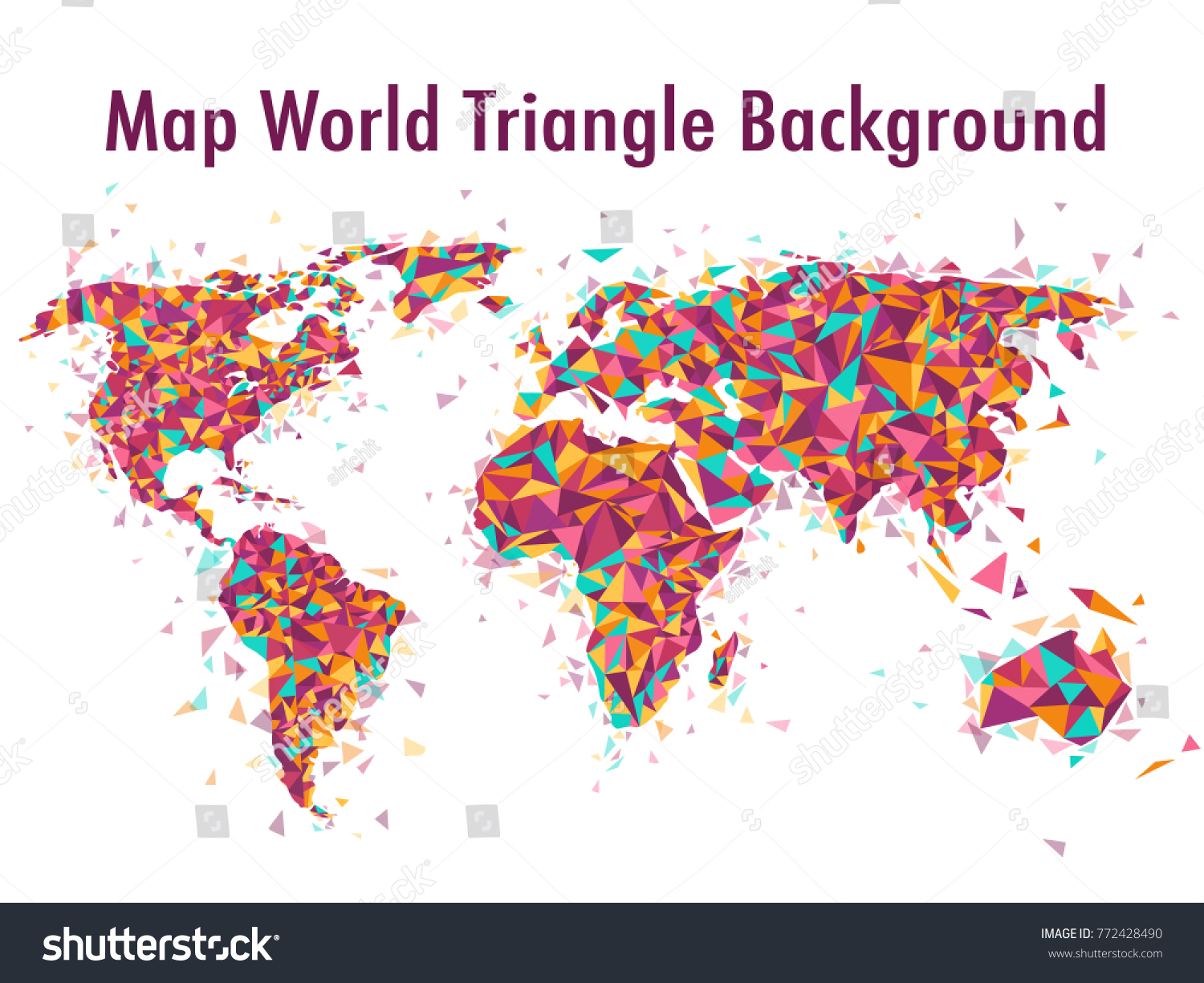 Abstract world map background polygonal triangle stock vector hd abstract world map background polygonal triangle colourful vector illustration eps 10 gumiabroncs Gallery