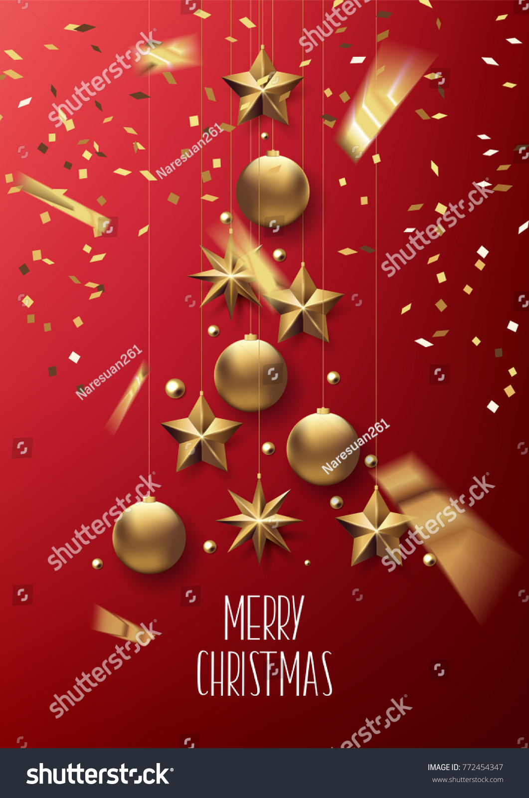 Merry Christmas Happy New Year 2018 Stock Vector Royalty Free