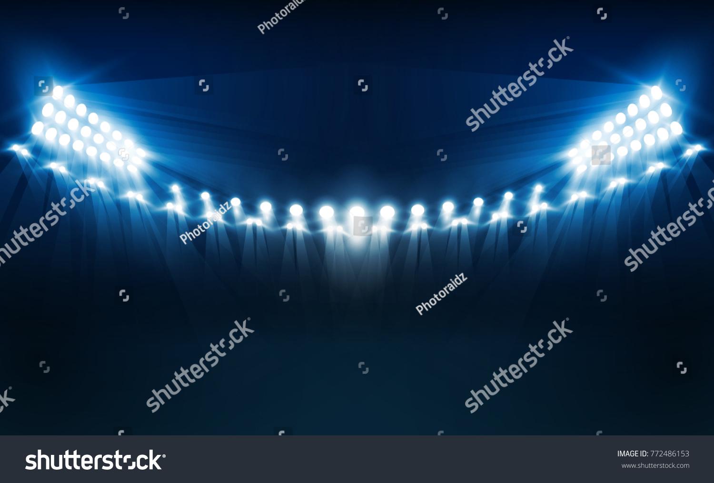 Bright stadium arena lights vector design stock vektorgrafik