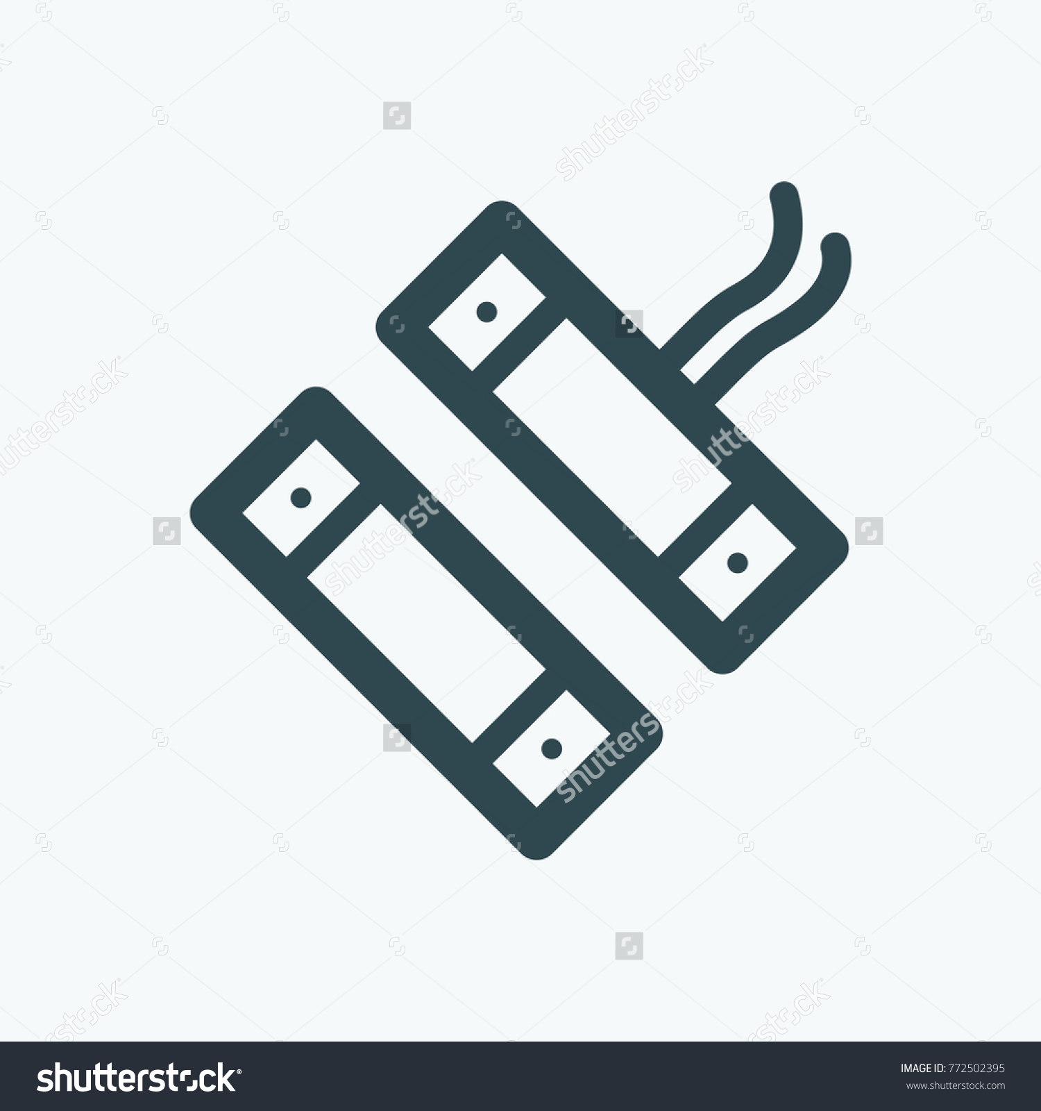 Magnetic Contact Switch Detector Vector Icon Stock Vector Royalty