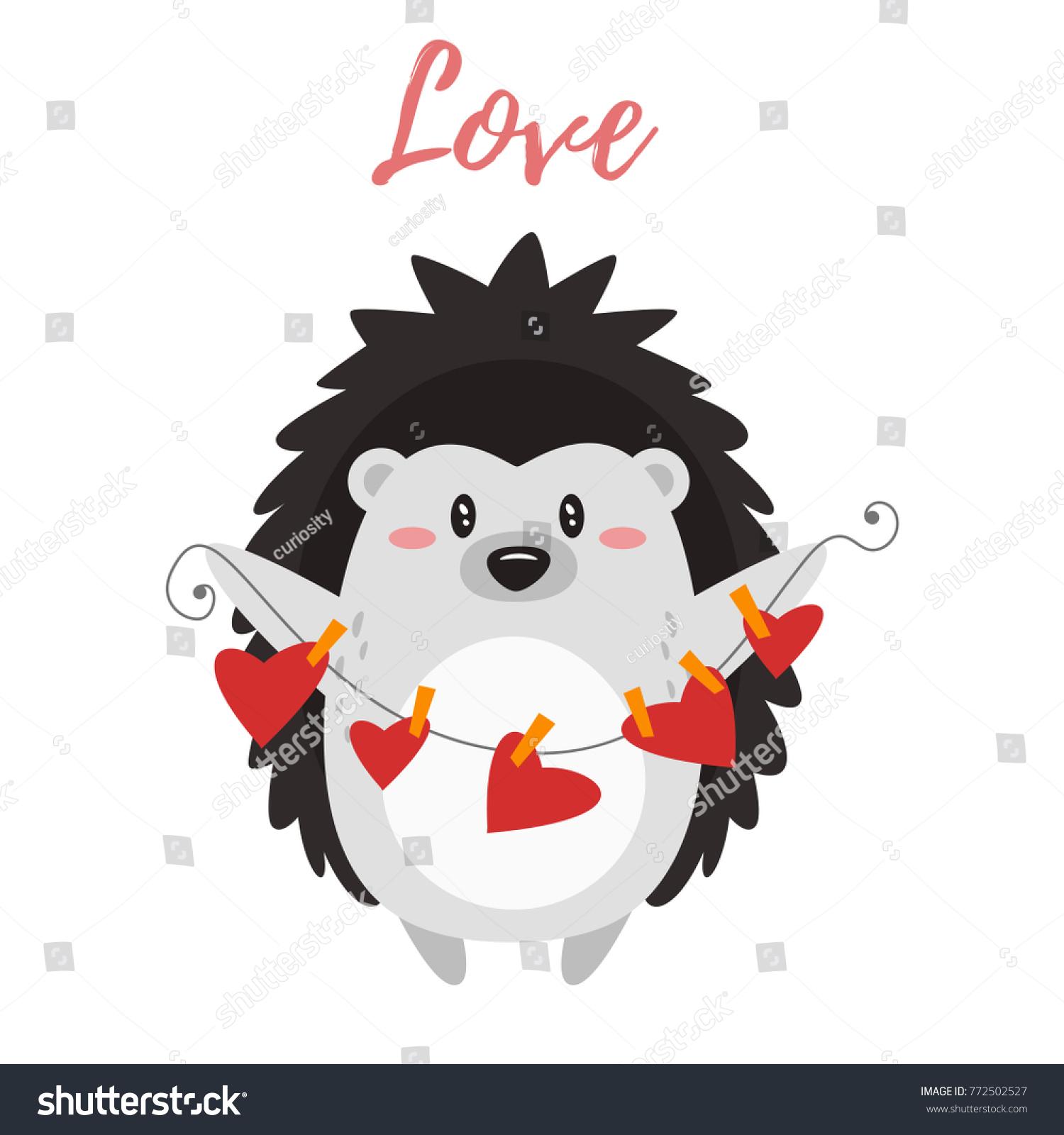 vector cartoon style illustration valentines day stock vector 772502527 shutterstock