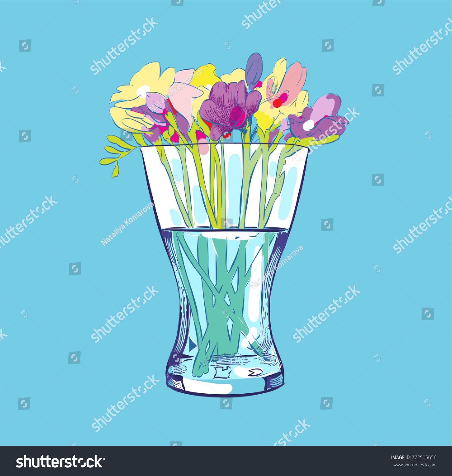 Flower vase vase flowers flat style stock vector 772505656 flower vase vase of flowers flat style vector illustration reviewsmspy