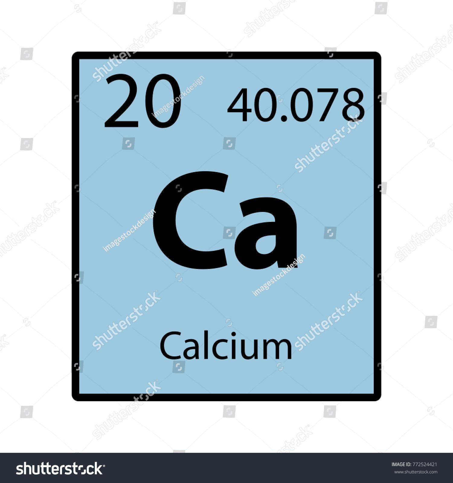 Calcium Periodic Table Element Color Icon Stock Vector 772524421