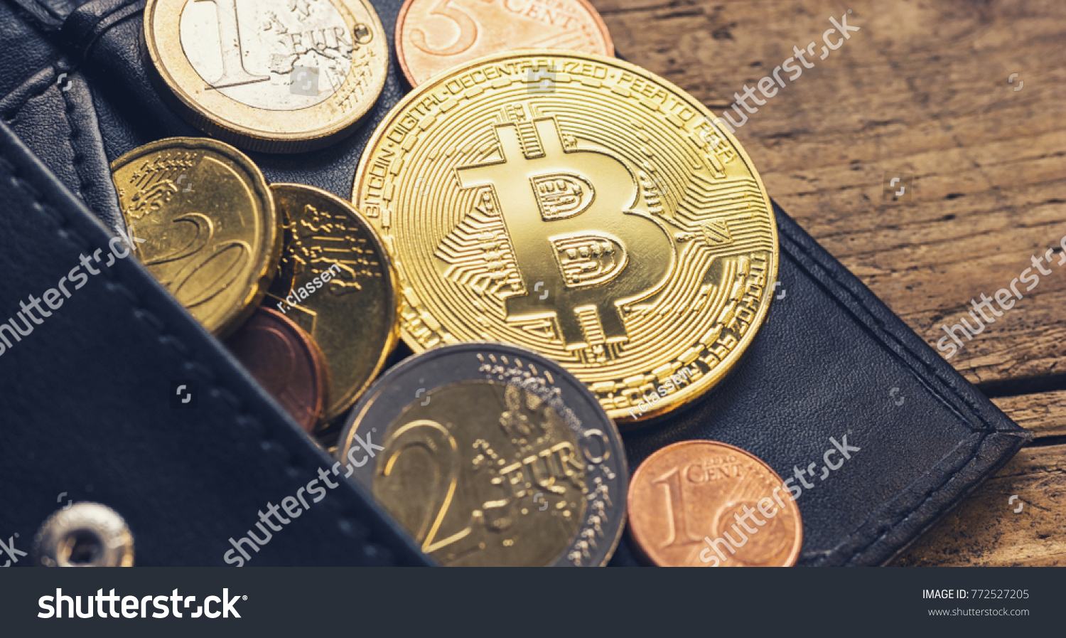 Personal bitcoin wallet euro coins stock photo safe to use personal bitcoin wallet with euro coins ccuart Images