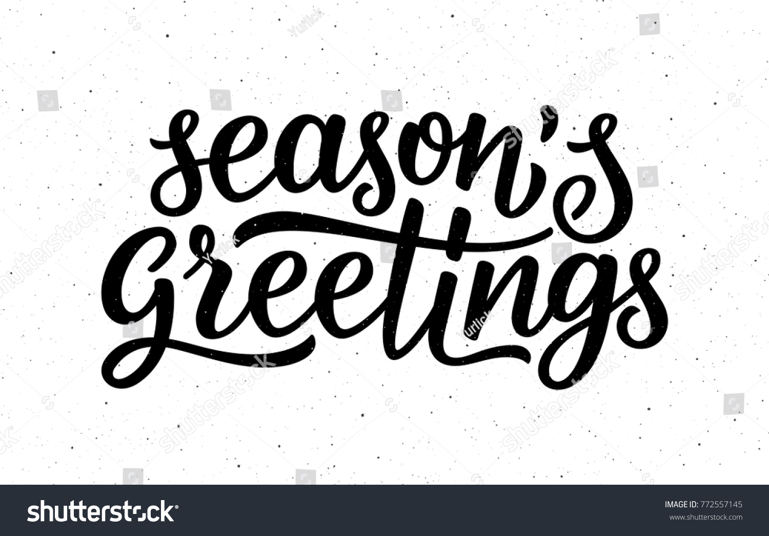 Seasons greetings calligraphy lettering text on stock illustration seasons greetings calligraphy lettering text on white background with vintage paper texture retro greeting card kristyandbryce Images