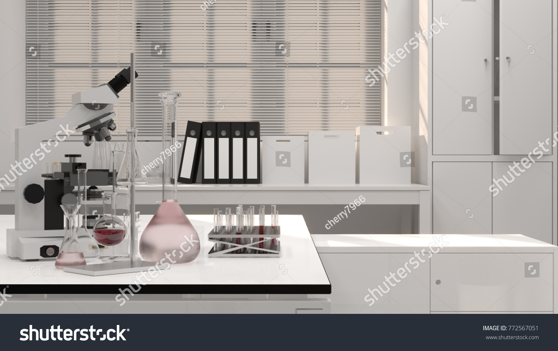 Laboratory Science Research Development Clean Modern Stock Photo ...