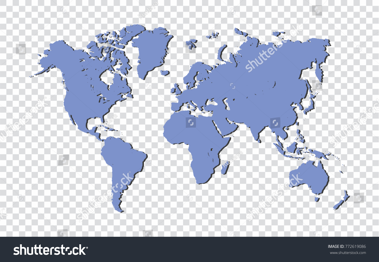 Blue world map isolated on transparent background vector blue world map isolated on transparent background vector illustration gumiabroncs Choice Image