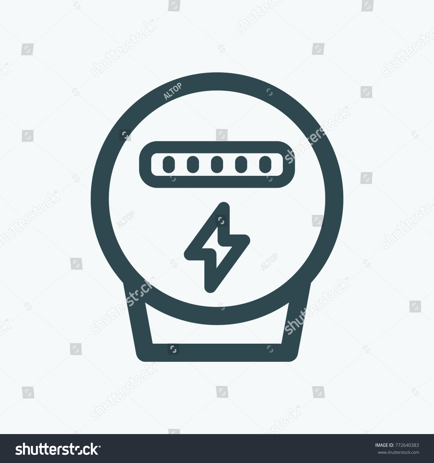 Electric Meter Electricity Meter Vector Icon Stock Photo (Photo ...