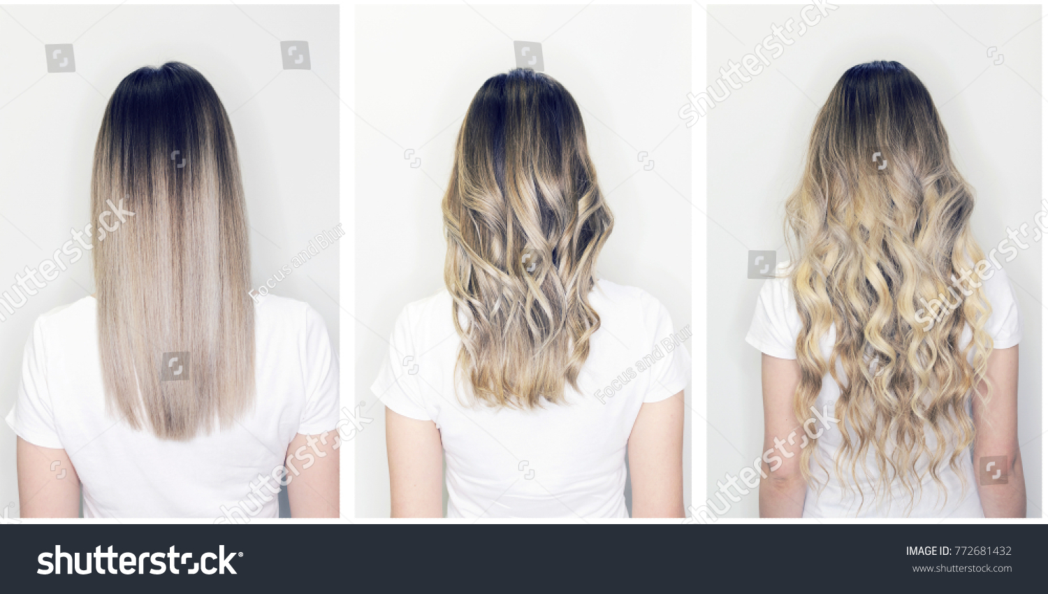 Hair Extension Wig Step By Step Stock Photo Edit Now 772681432