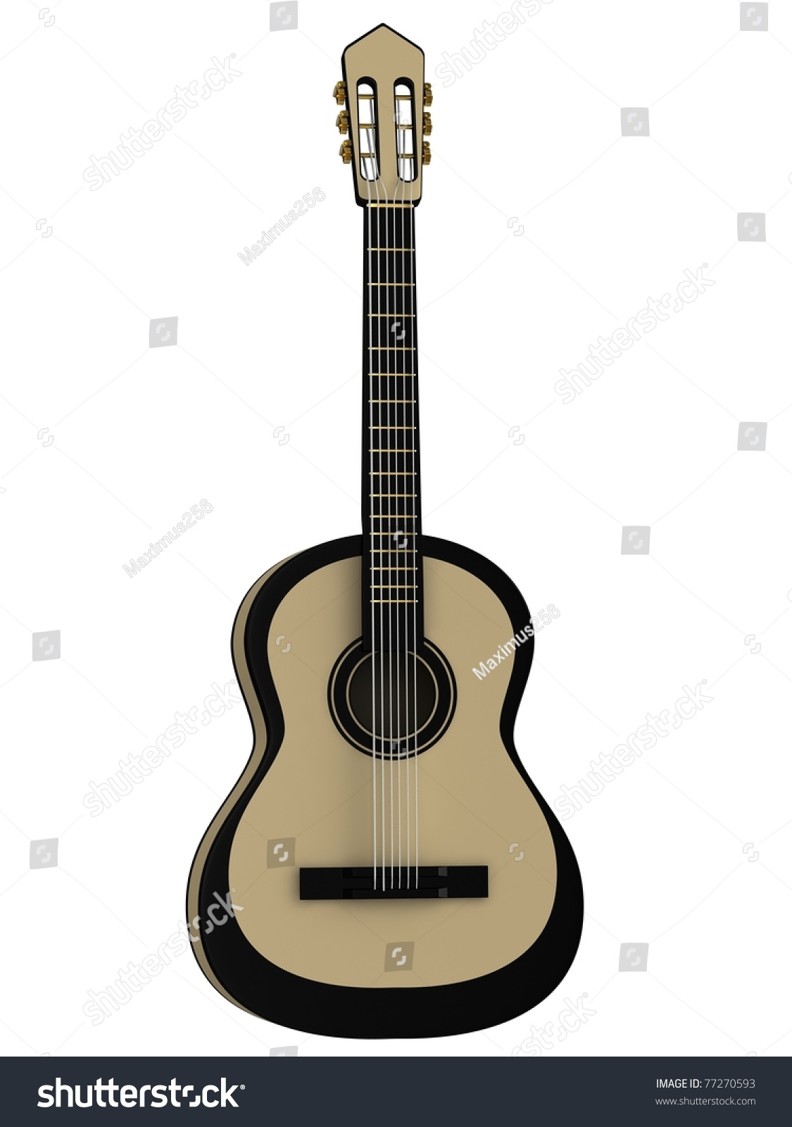 Royalty Free Stock Illustration Of Acoustic Guitar Isolated On White