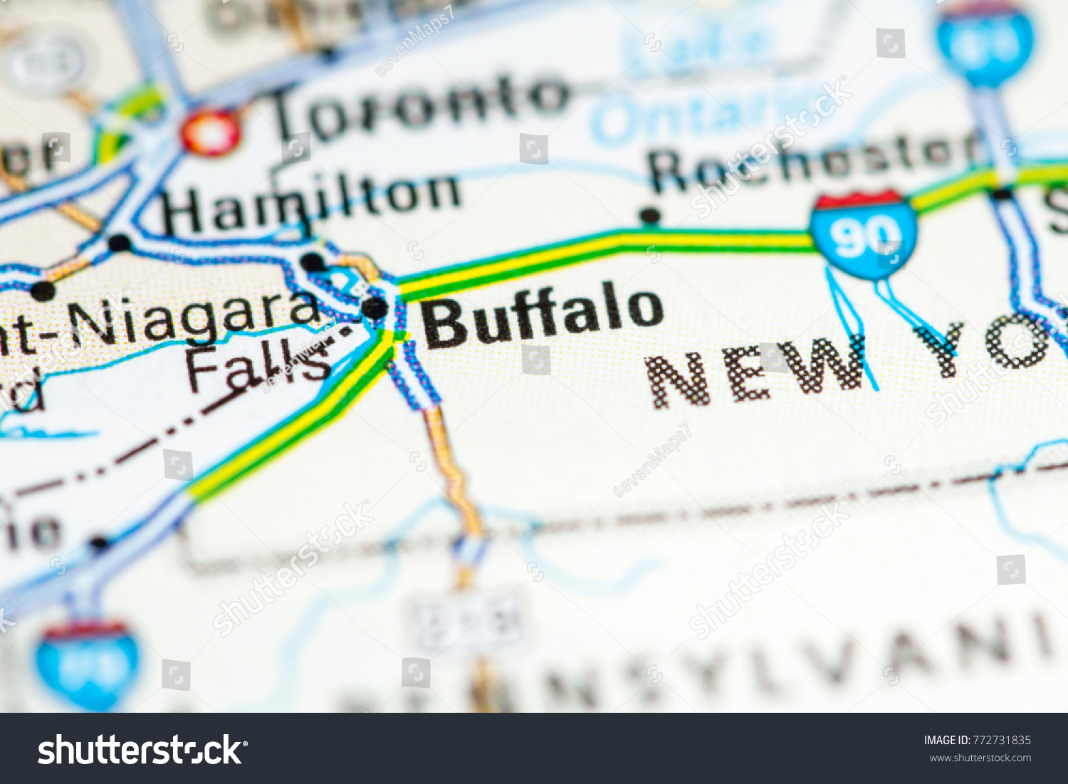 Buffalo Usa On Map Stock Photo Edit Now 772731835 Shutterstock