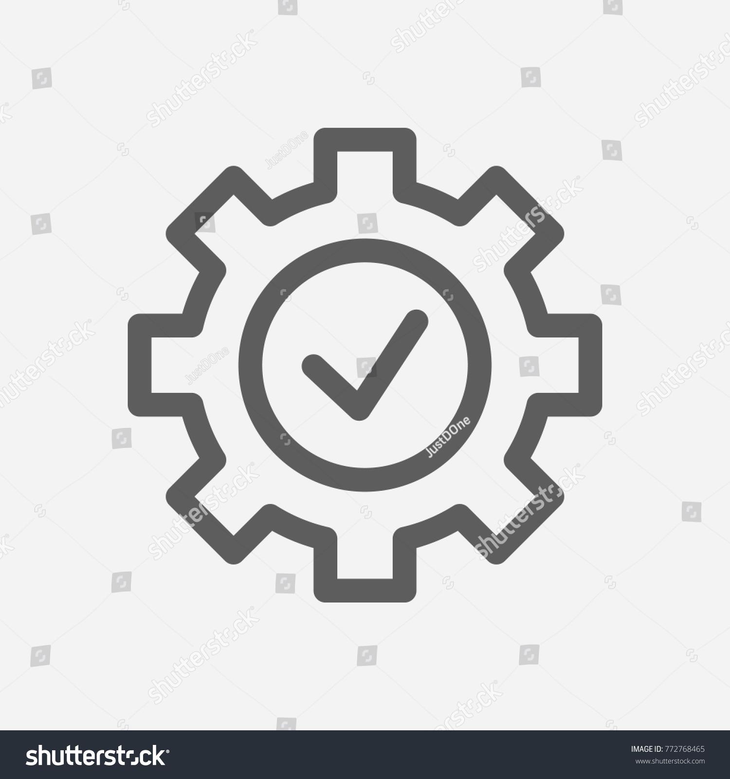 Core values expertise icon gear check stock vector 772768465 core values expertise icon gear check line symbol isolated vector illustration on company values buycottarizona
