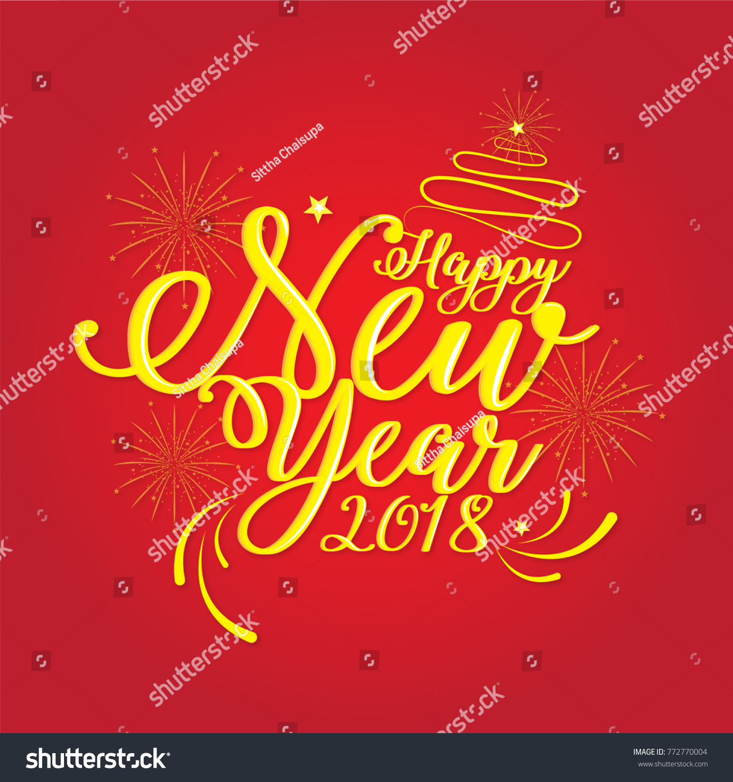 happy new year 2018vector illustrator