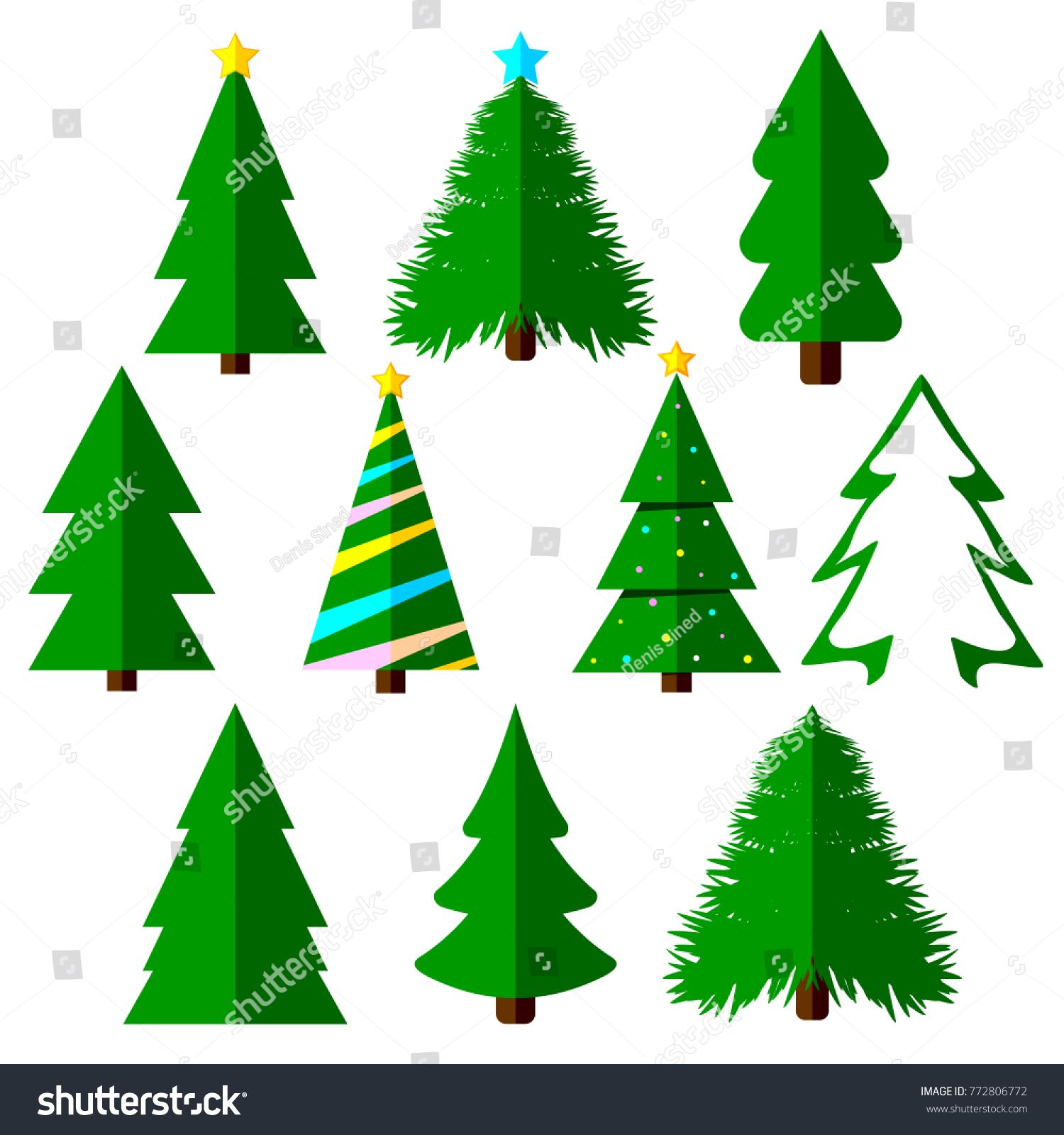 Set xmas tree icons christmas symbols stock vector 772806772 set xmas tree icons christmas symbols flat design template vector illustration biocorpaavc