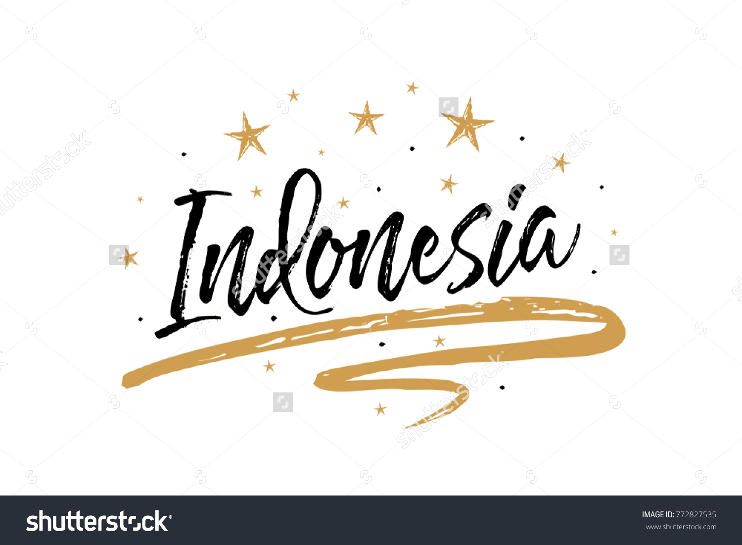 indonesia name country word text card のベクター画像素材