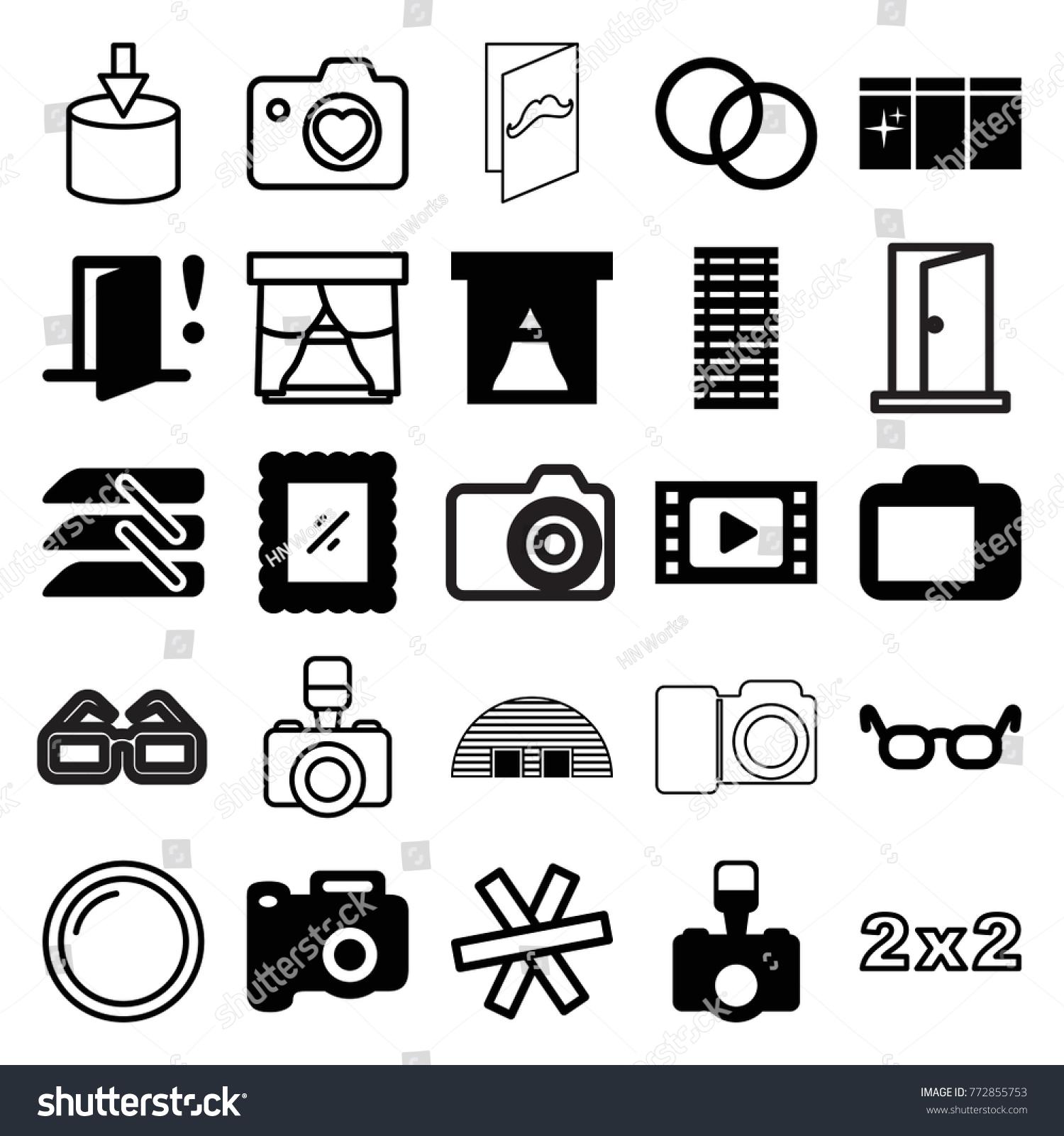 Set 25 Frame Filled Outline Icons Stock Vector (2018) 772855753 ...