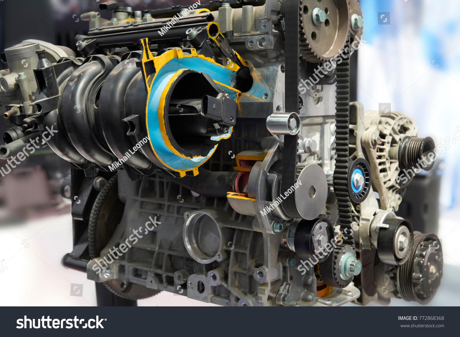 Front View On Clean Car Engine Stock Photo (Edit Now) 772868368 ...