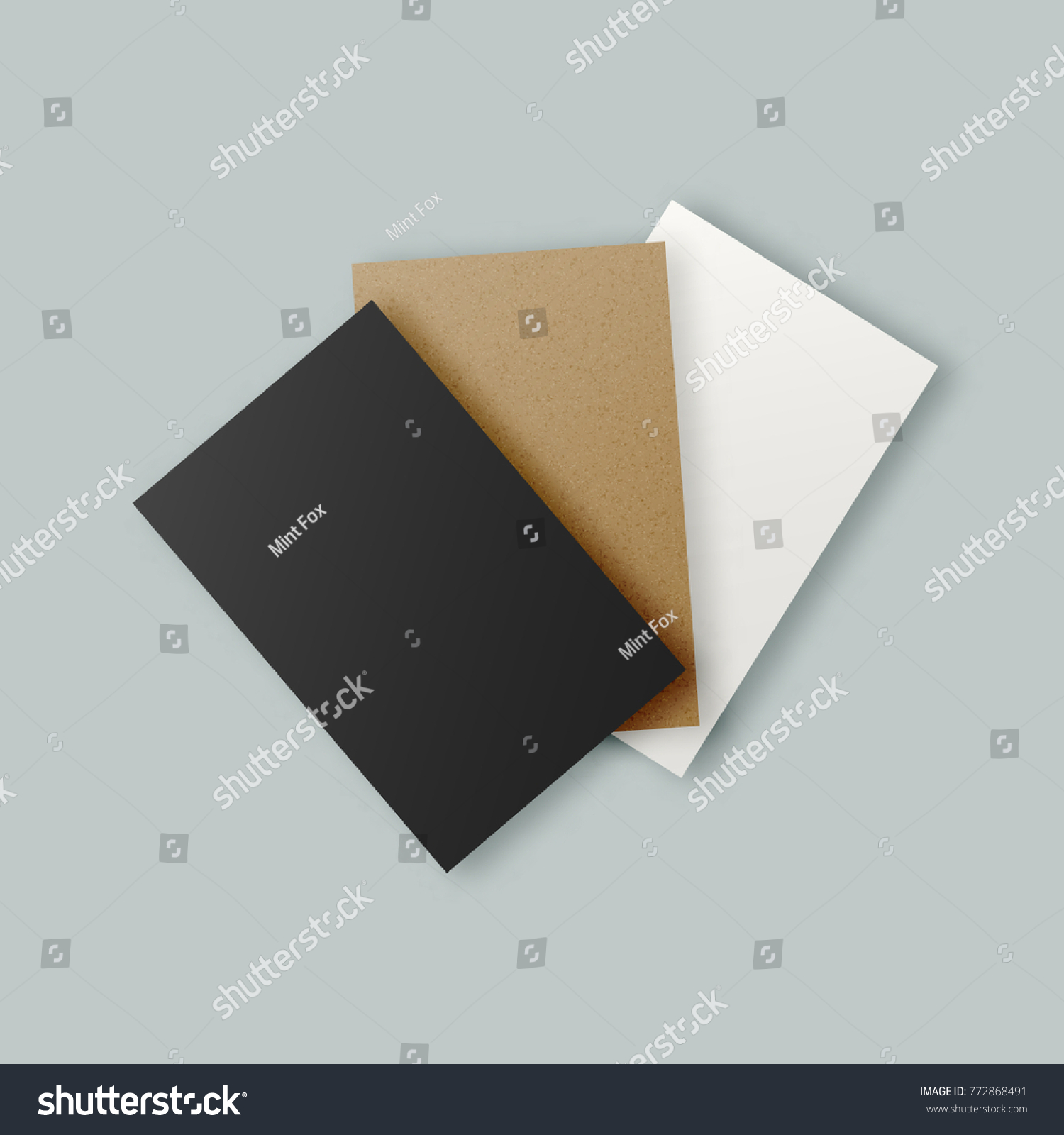 Black White Brown Kraft Paper Business Stock Illustration 772868491 ...