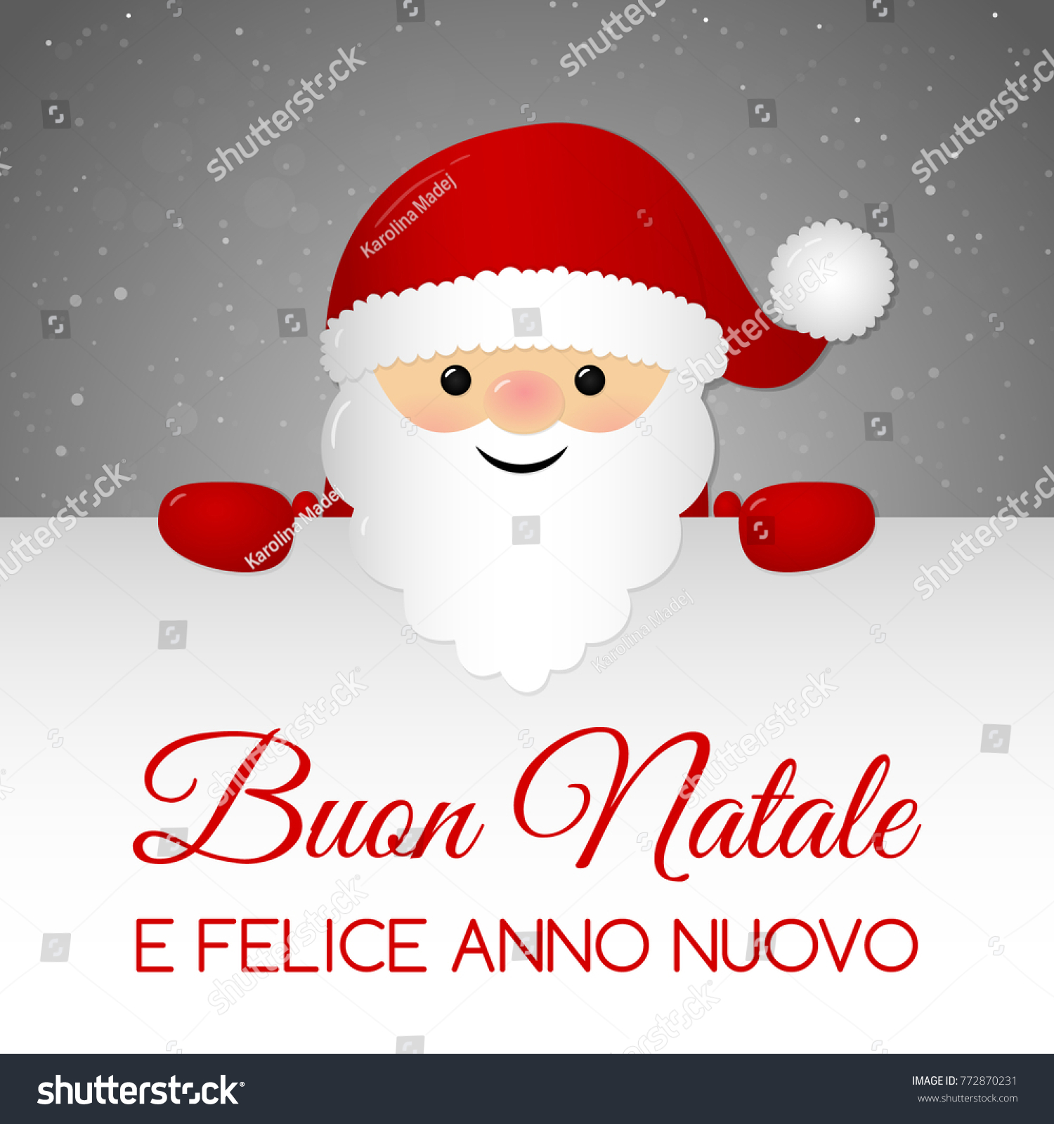 Buon Natale Merry Christmas Italian Christmas Stock Vector (Royalty ...
