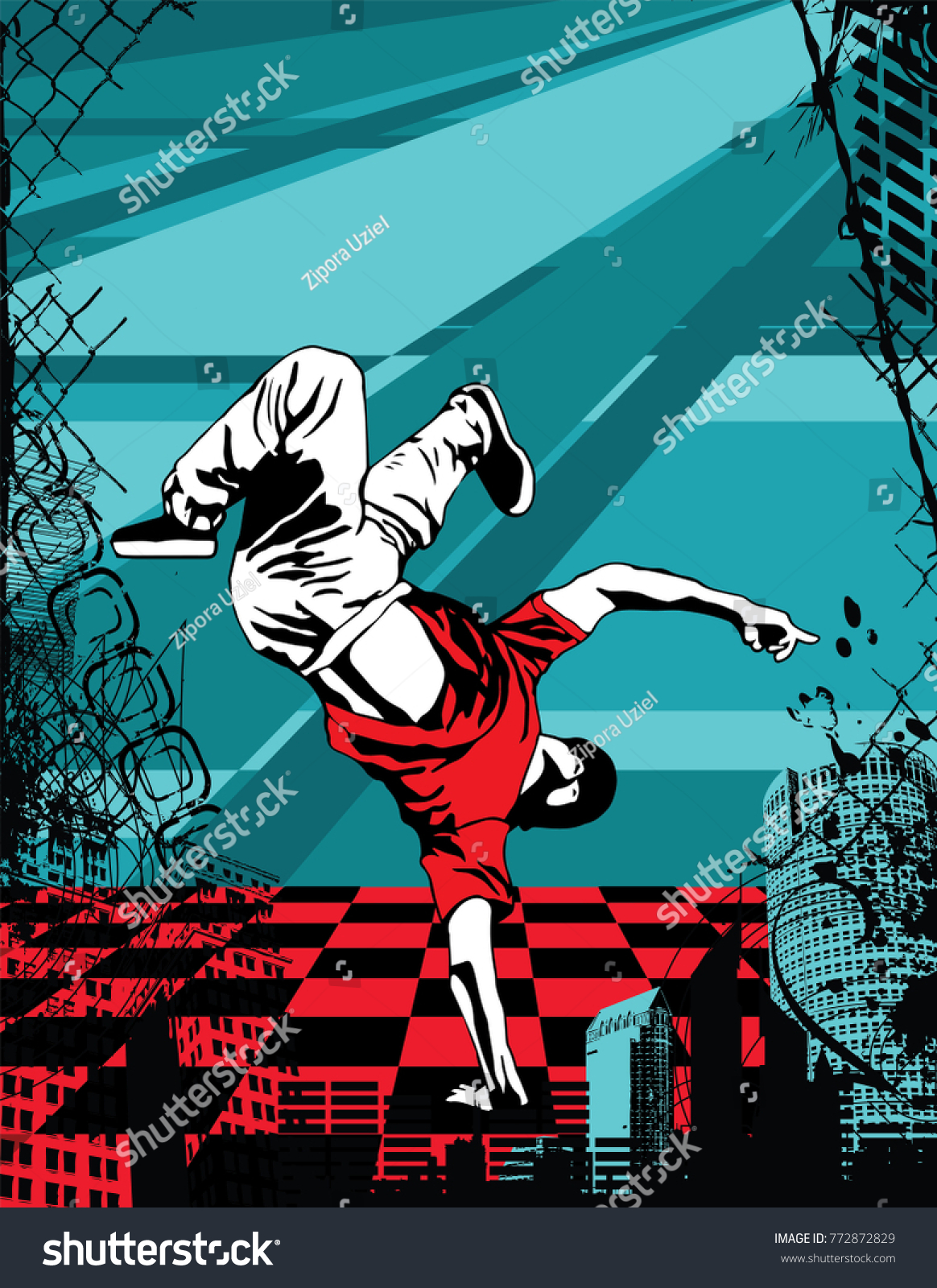 Cool Image With Breakdancer On The Wall Ez Canvas Zipora Black Jeans