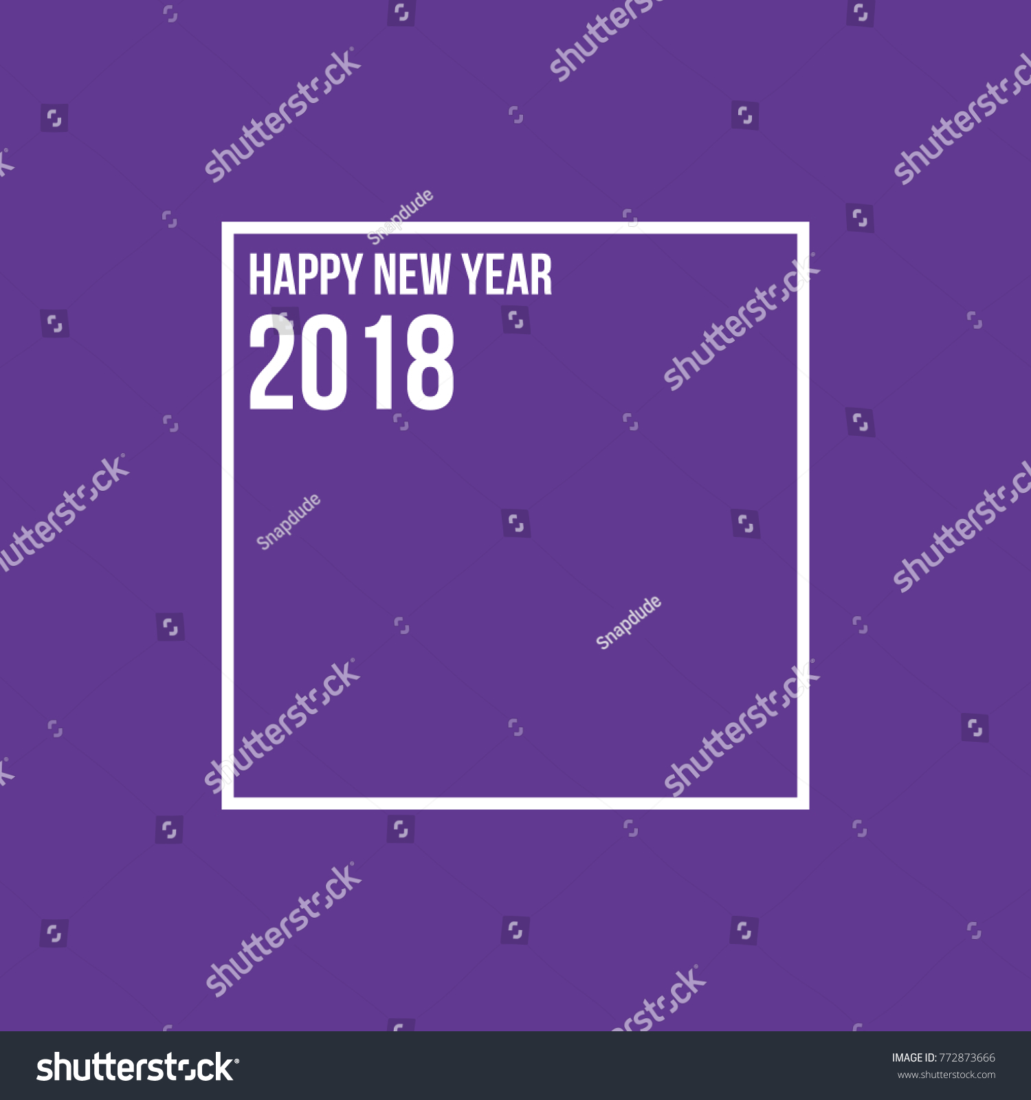 Ultra Violet Background Happy New Year Stock Vector Royalty Free
