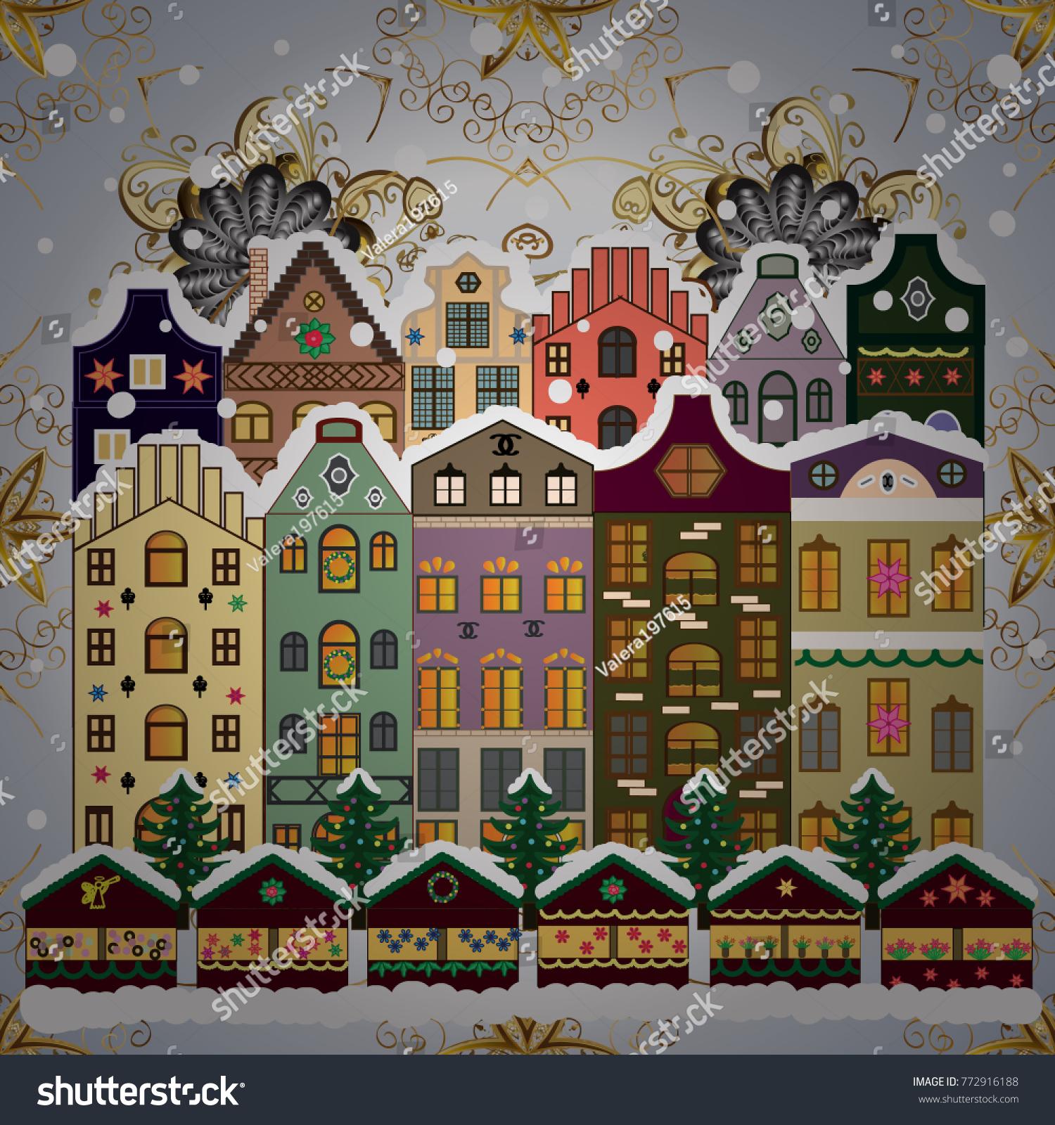 Christmas happy new year greeting card stock vector 772916188 christmas and happy new year greeting card holidays vector illustration vector illustration kristyandbryce Gallery