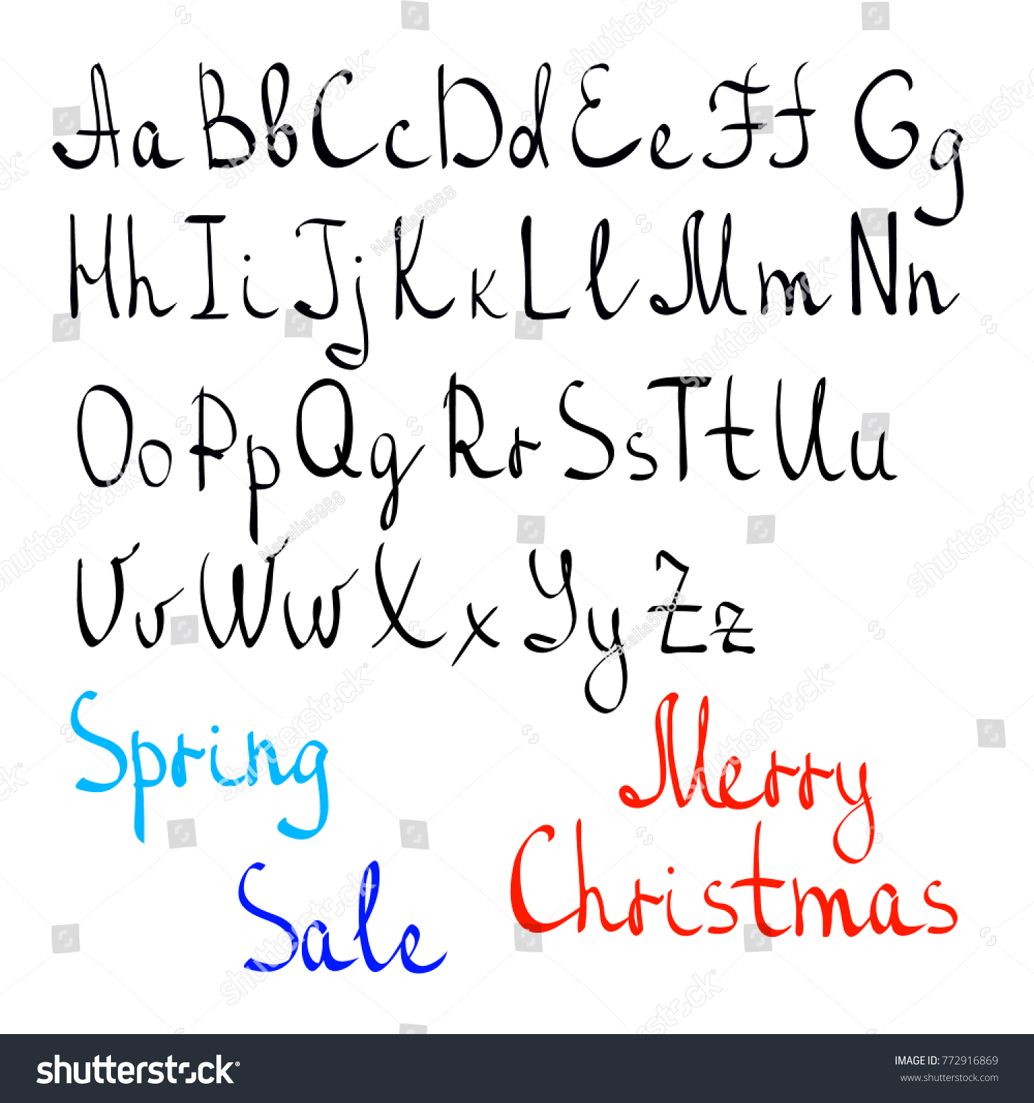 Written alphabet by hand english letters stock vector 772916869 written alphabet by hand english letters casually written letters words spring sale spiritdancerdesigns Choice Image