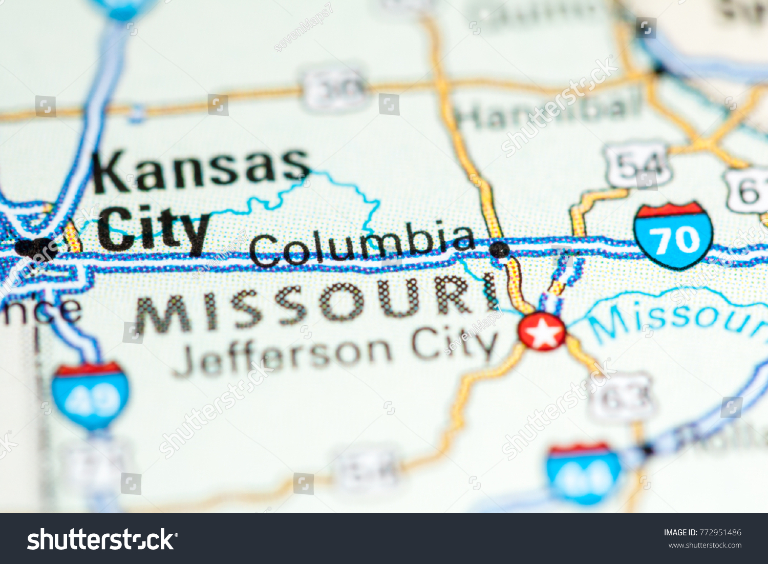 Columbia Usa On Map Stock Photo Edit Now 772951486 Shutterstock