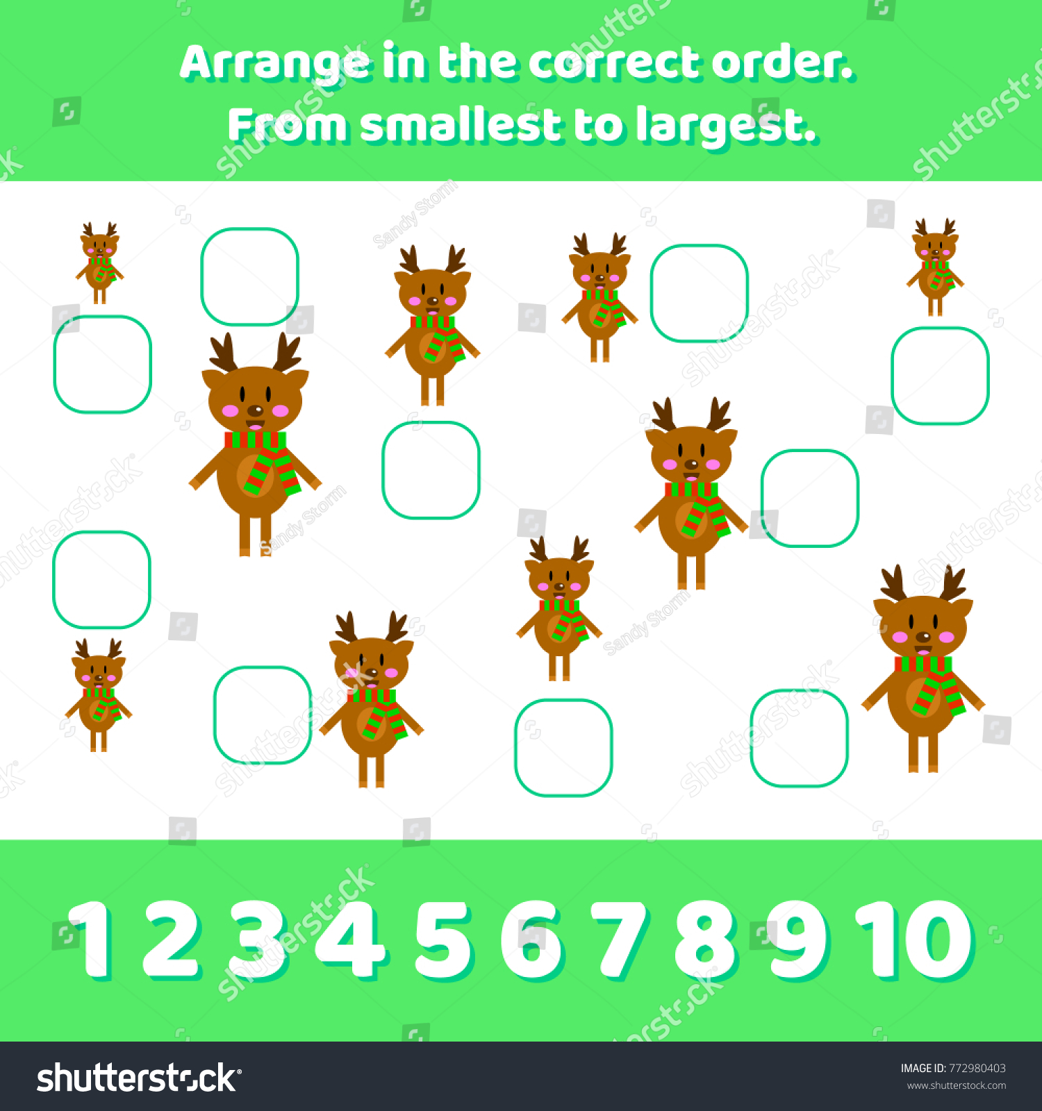 Vector Illustration Logic Game Preschool Children Stock Vector ...