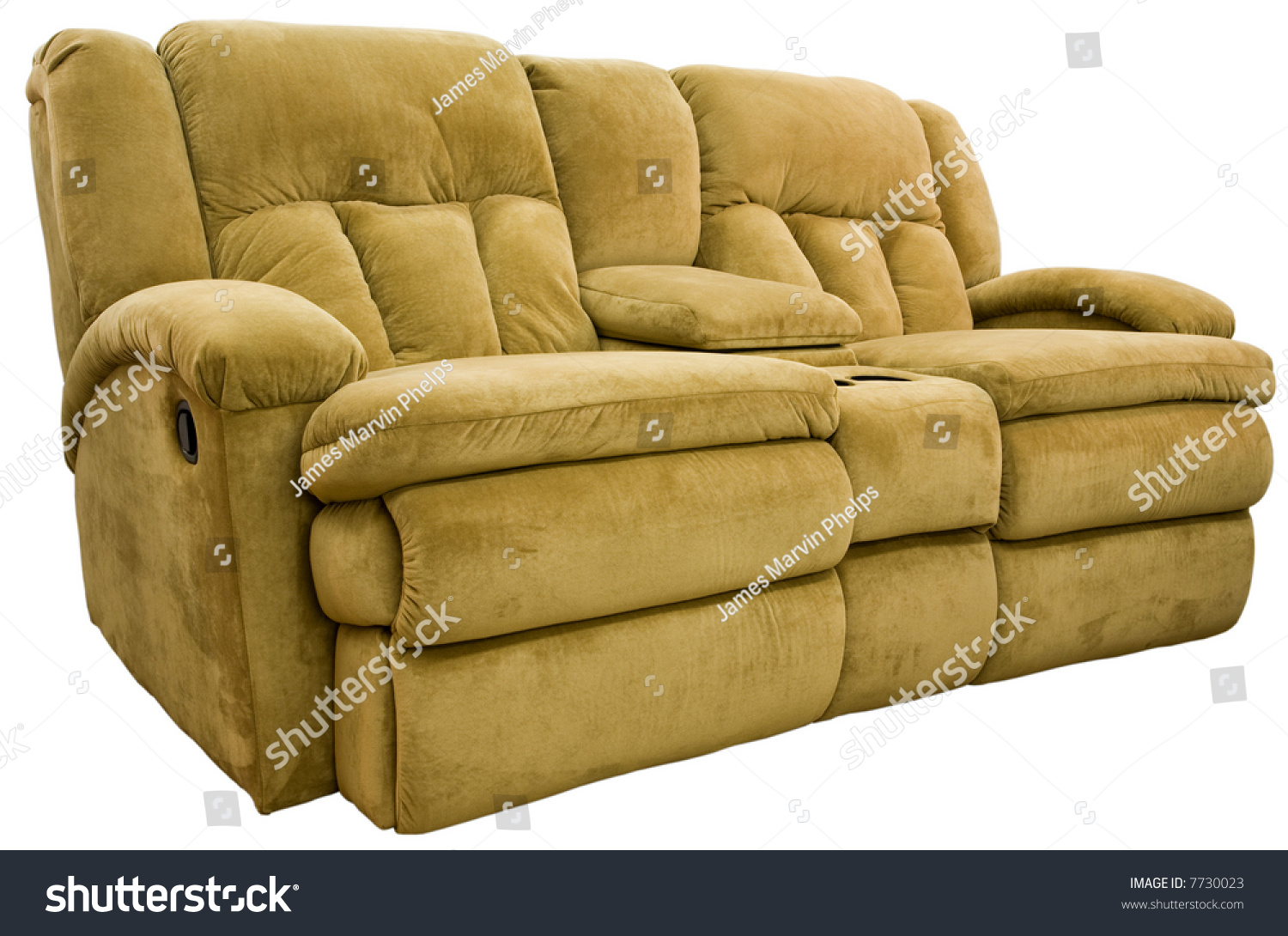 Micro fiber double reclining loveseat with cup holders stock photo 7730023 shutterstock Loveseat with cup holders