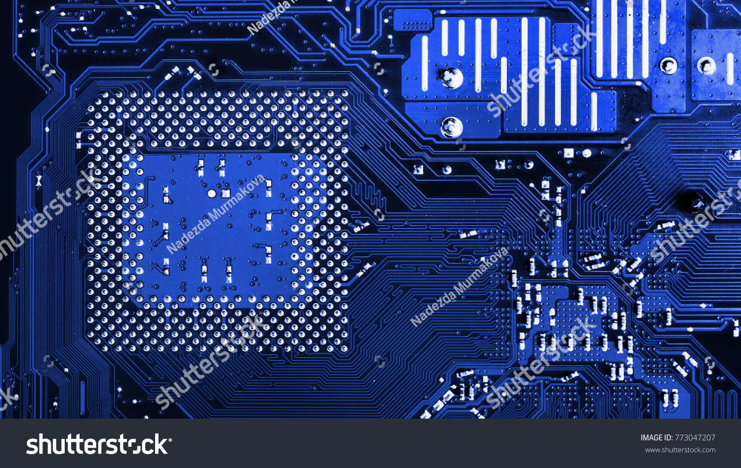Blue Circuit Board Background Computer Motherboard Stock Photo Edit Royalty Free Image Of From Red Close Up A